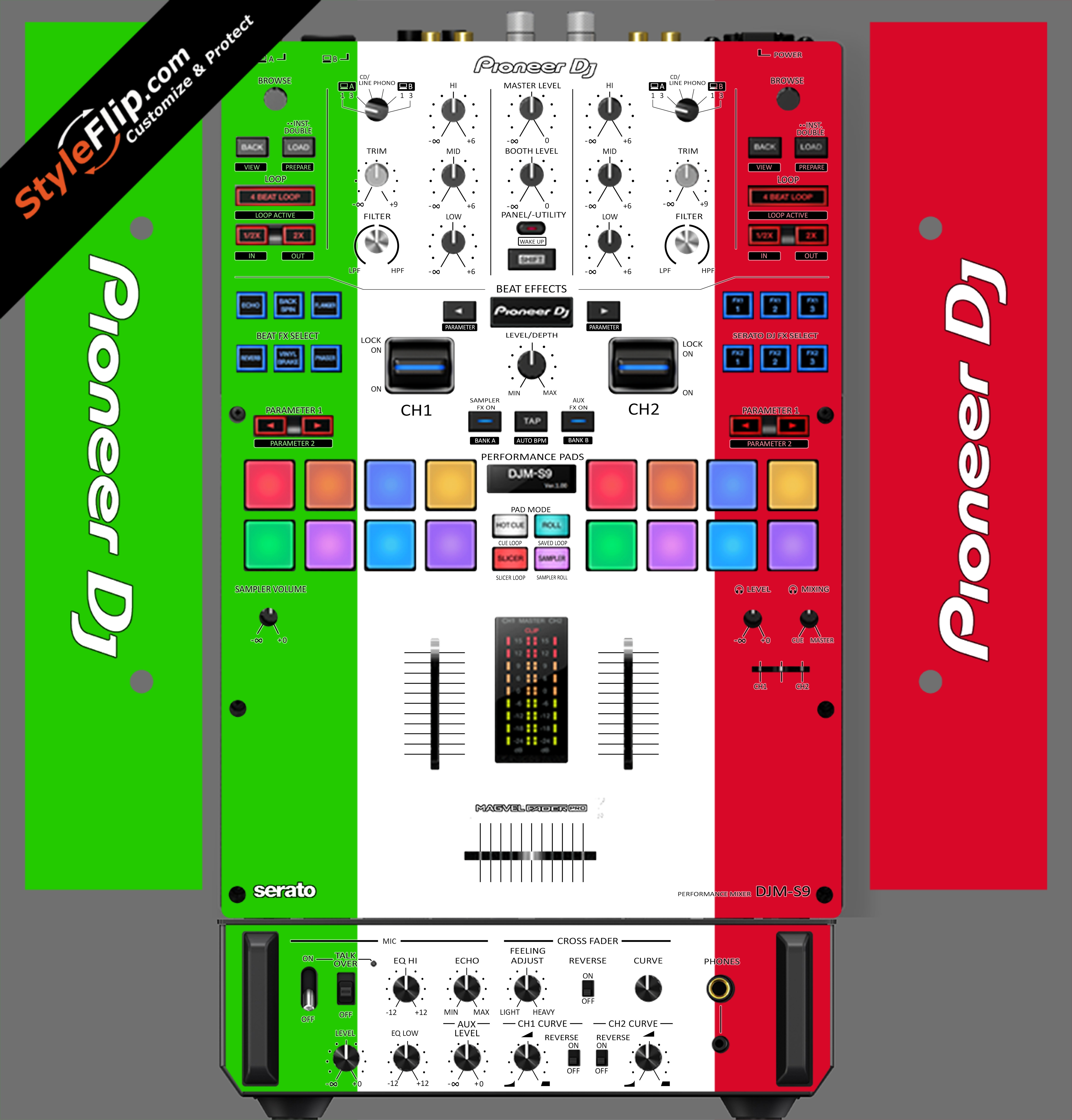 Italian Flag  Pioneer DJM S9