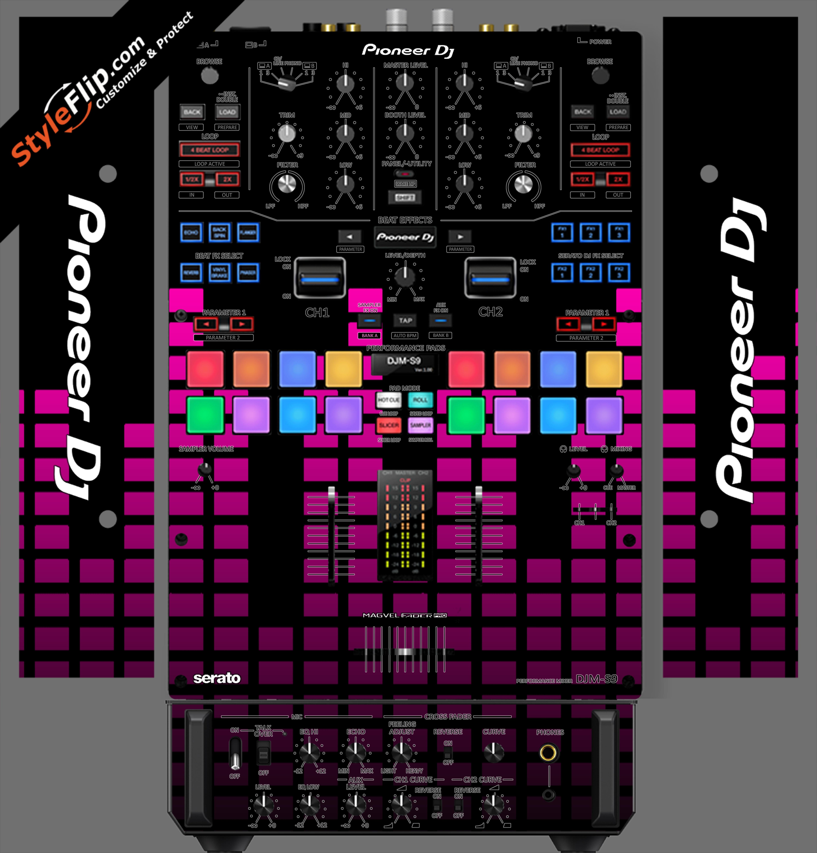 Pink Equalizer Pioneer DJM S9