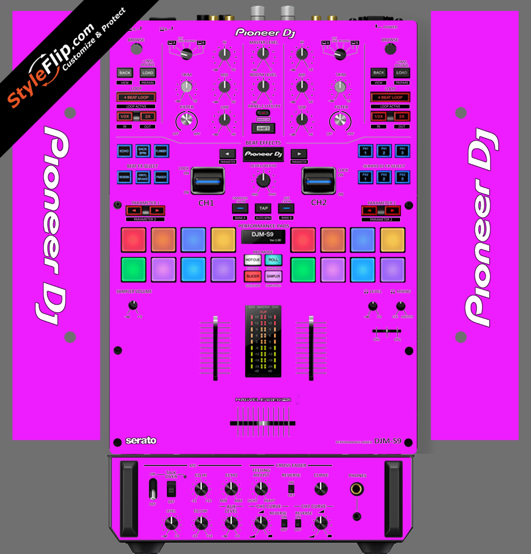 Solid Pink Pioneer DJM S9
