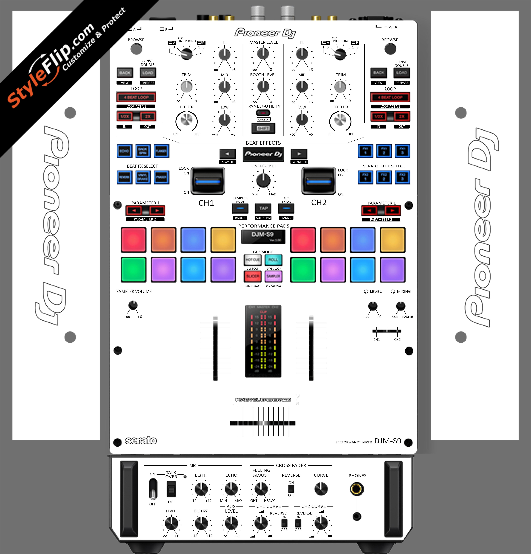 Solid White Pioneer DJM S9