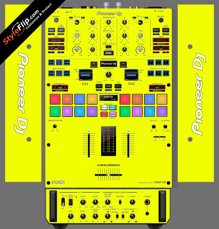 Solid Yellow Pioneer DJM S9