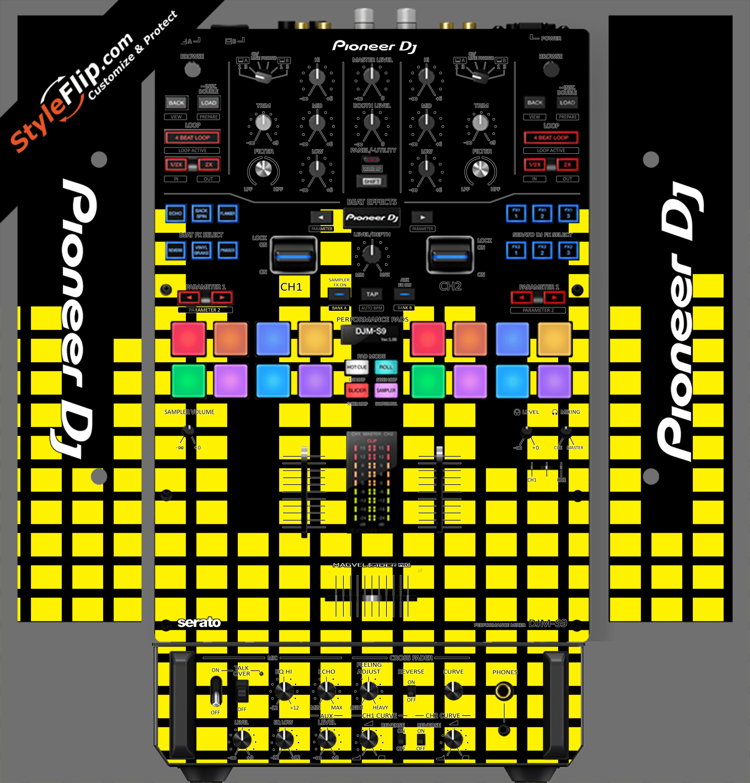 Yellow Equalizer  Pioneer DJM S9