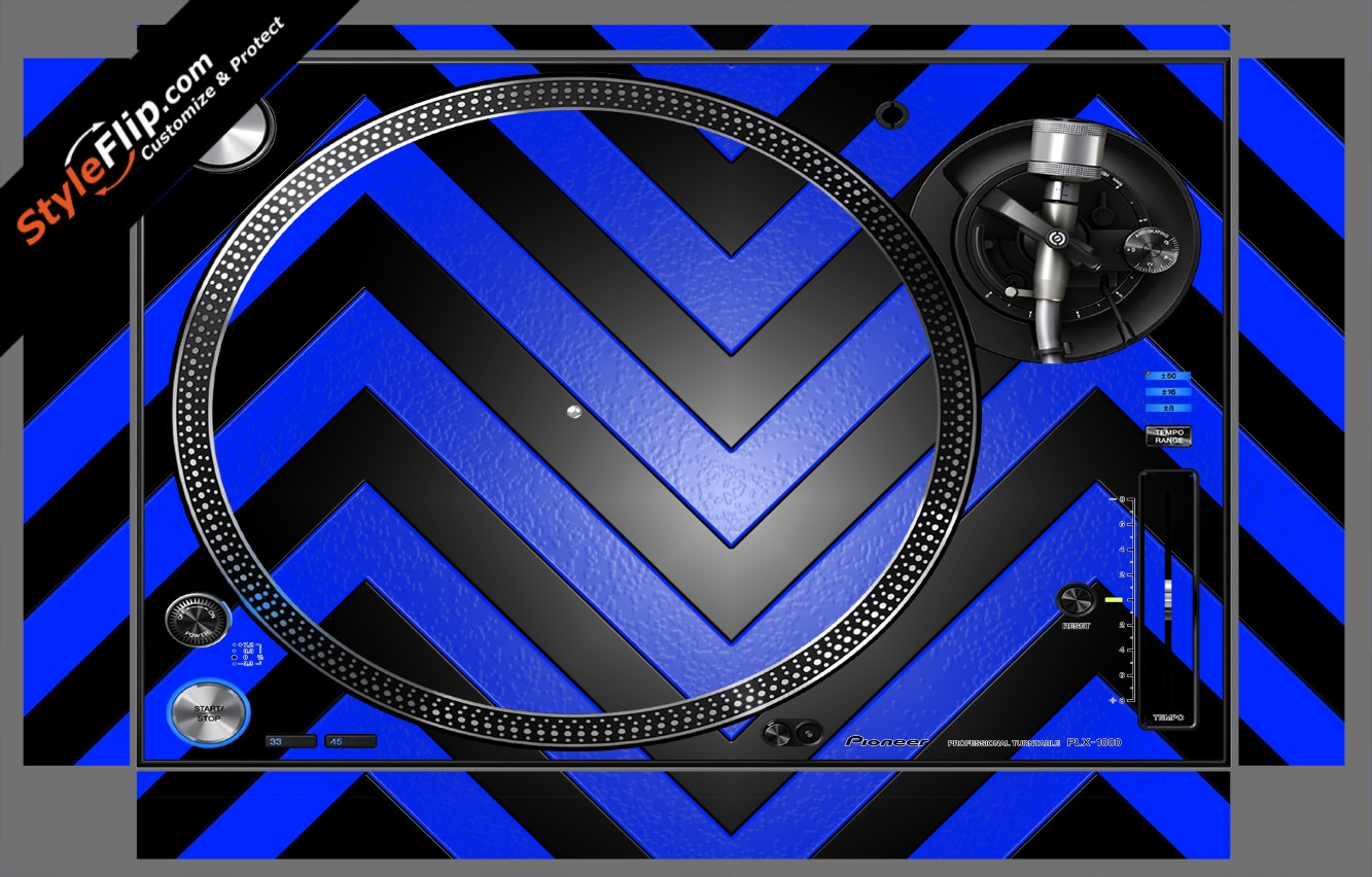 Black & Blue Chevron Pioneer PLX-1000