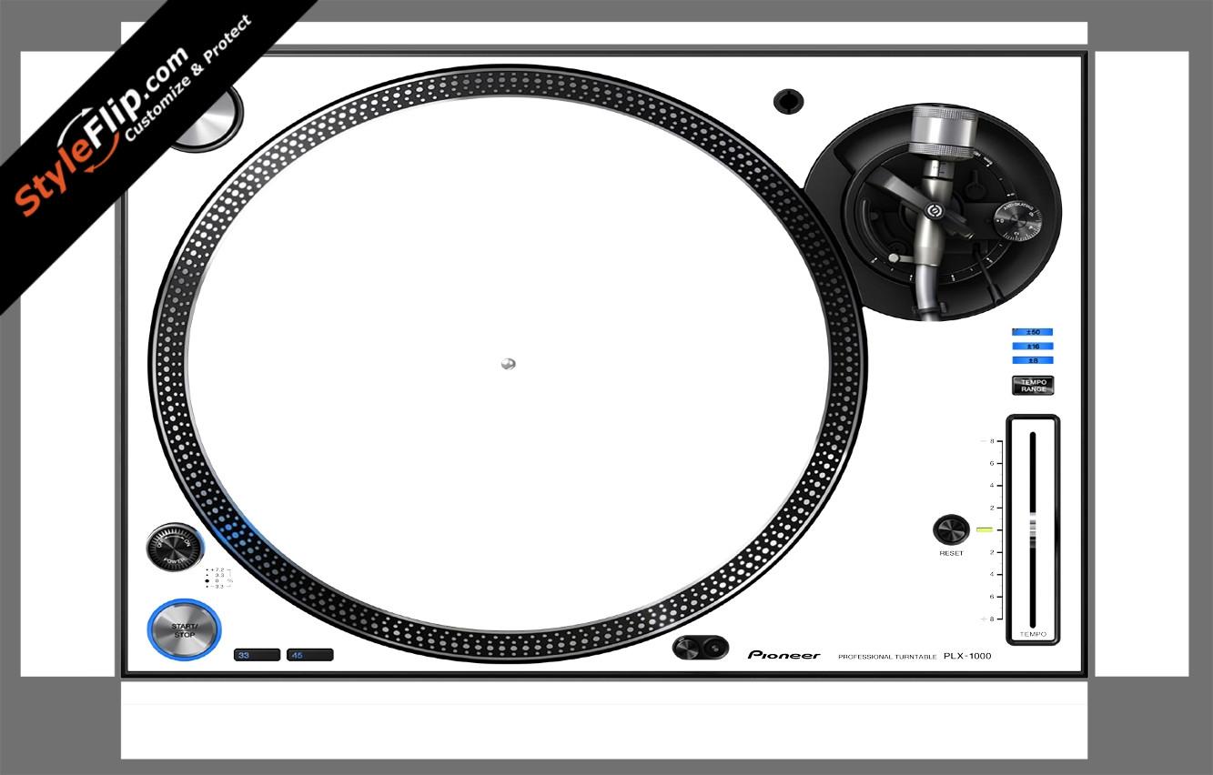 Solid White Pioneer PLX-1000