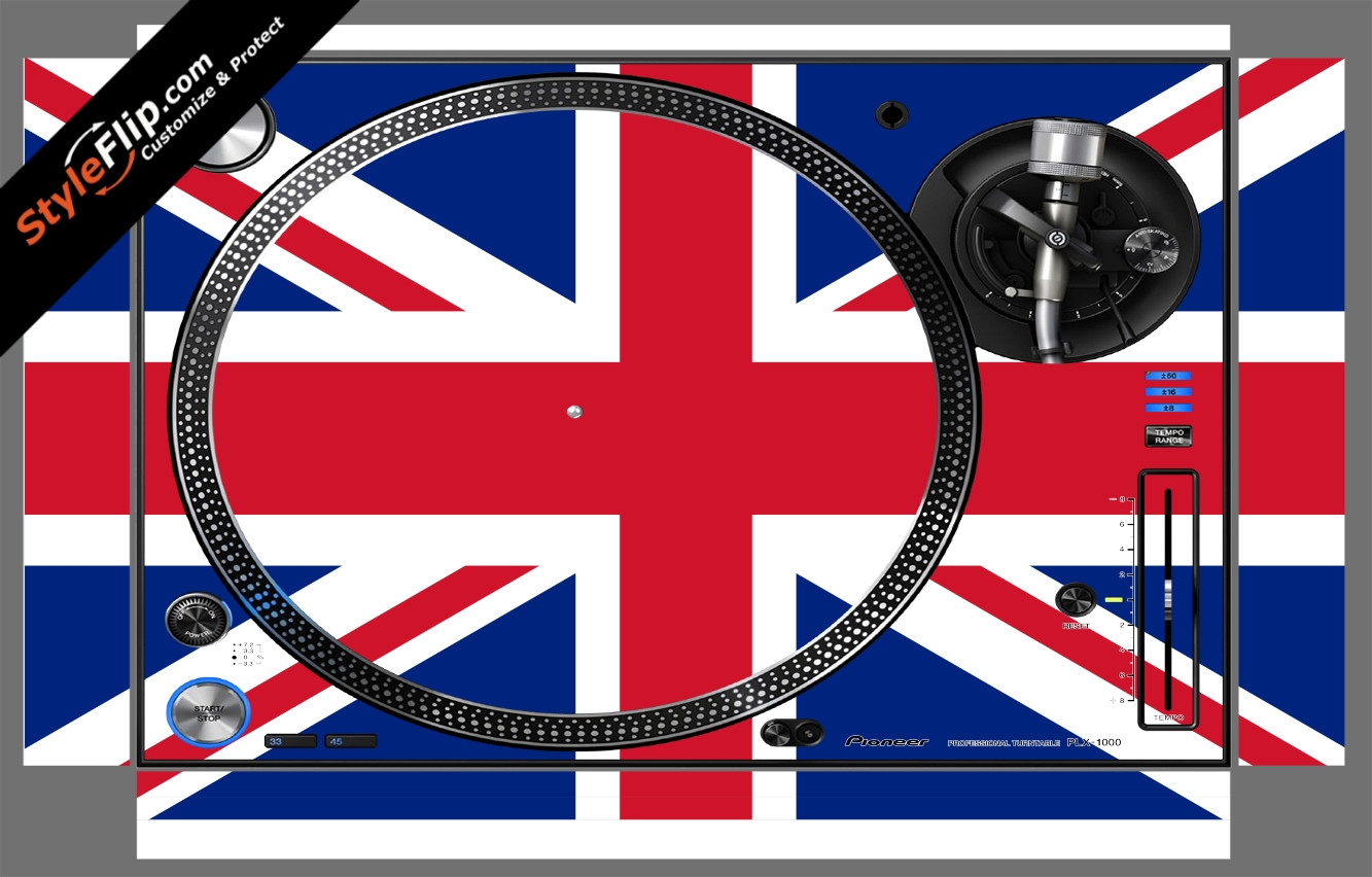 United Kingdom Flag Pioneer PLX-1000