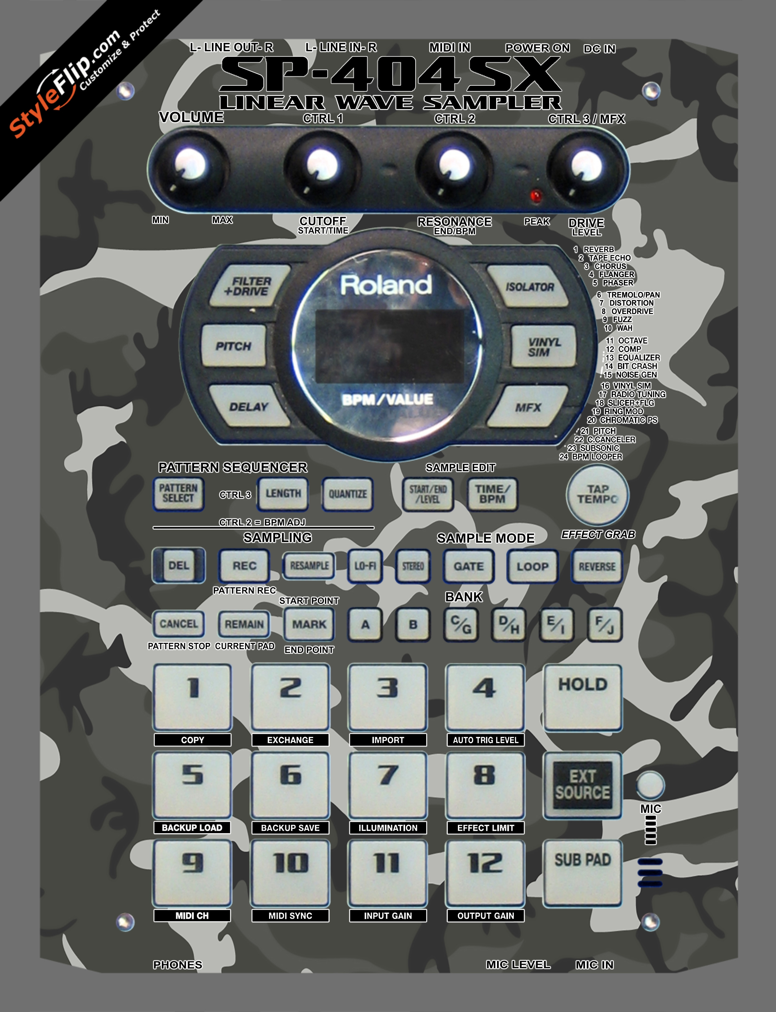 Arctic Fox Roland SP-404 SX