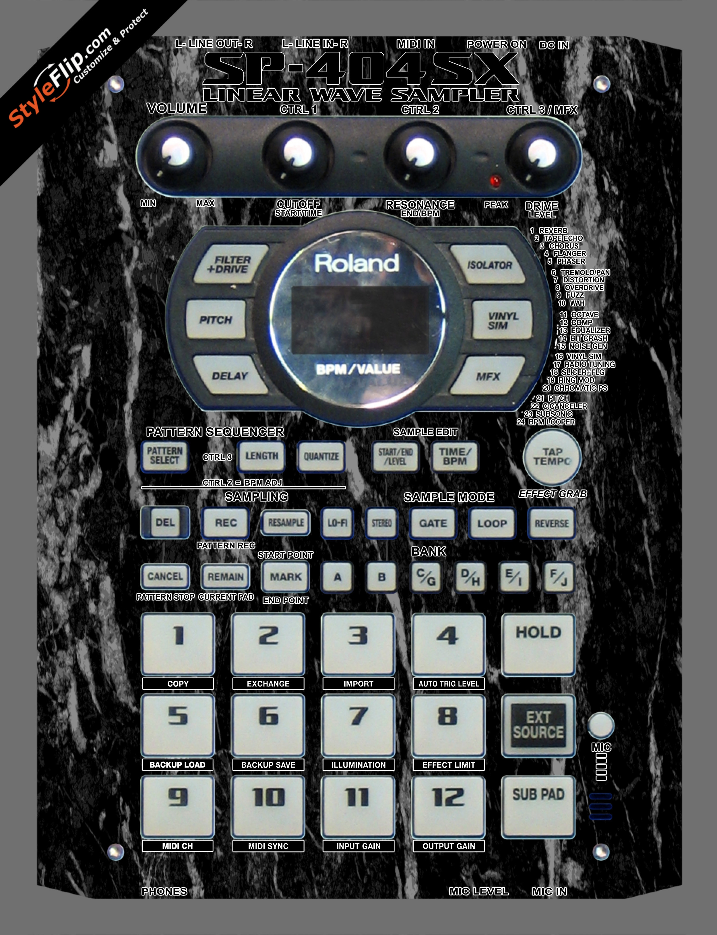 Black Marble  Roland SP-404 SX