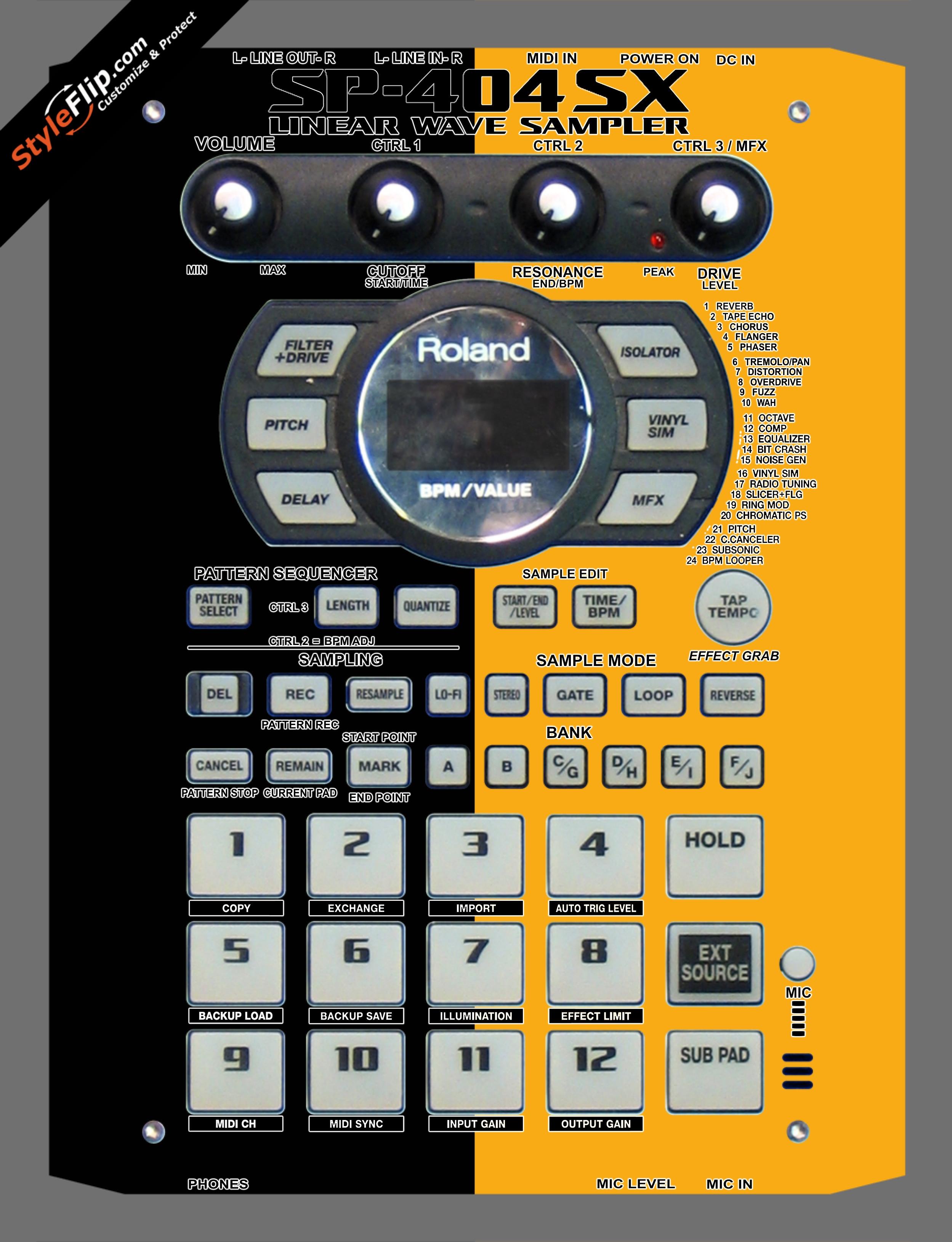 Black & Orange Roland SP-404 SX