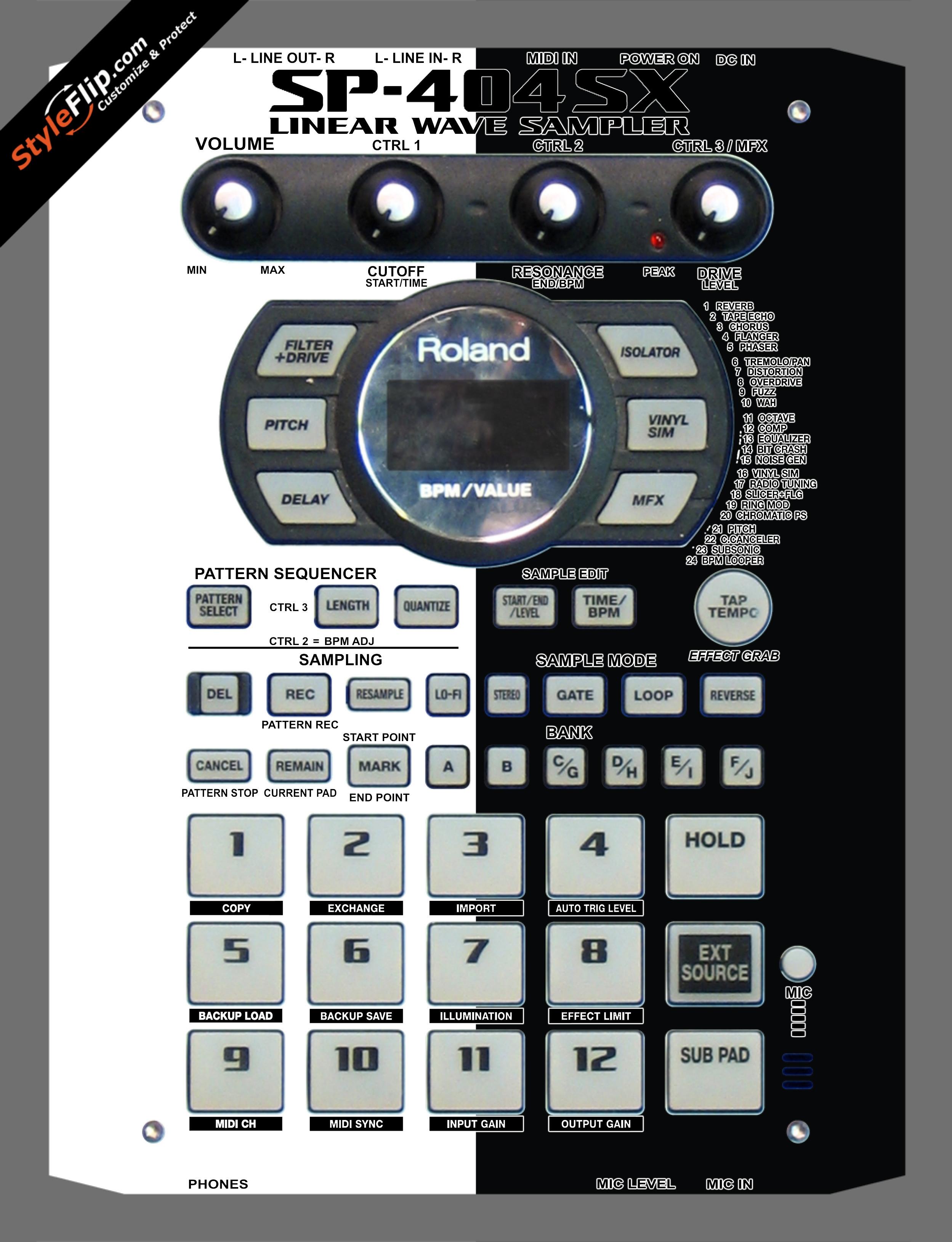 Black & White Roland SP-404 SX