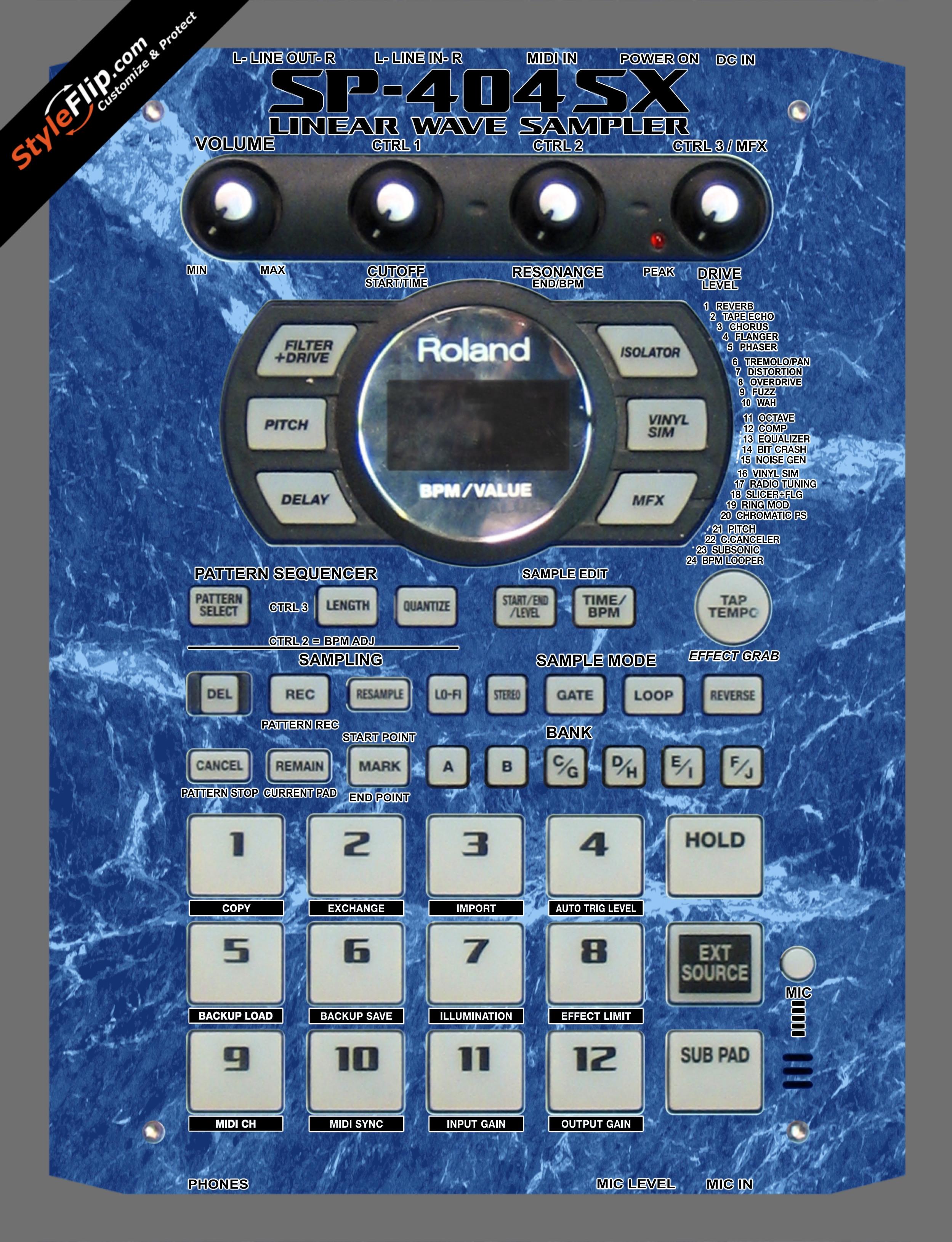 Blue Marble  Roland SP-404 SX