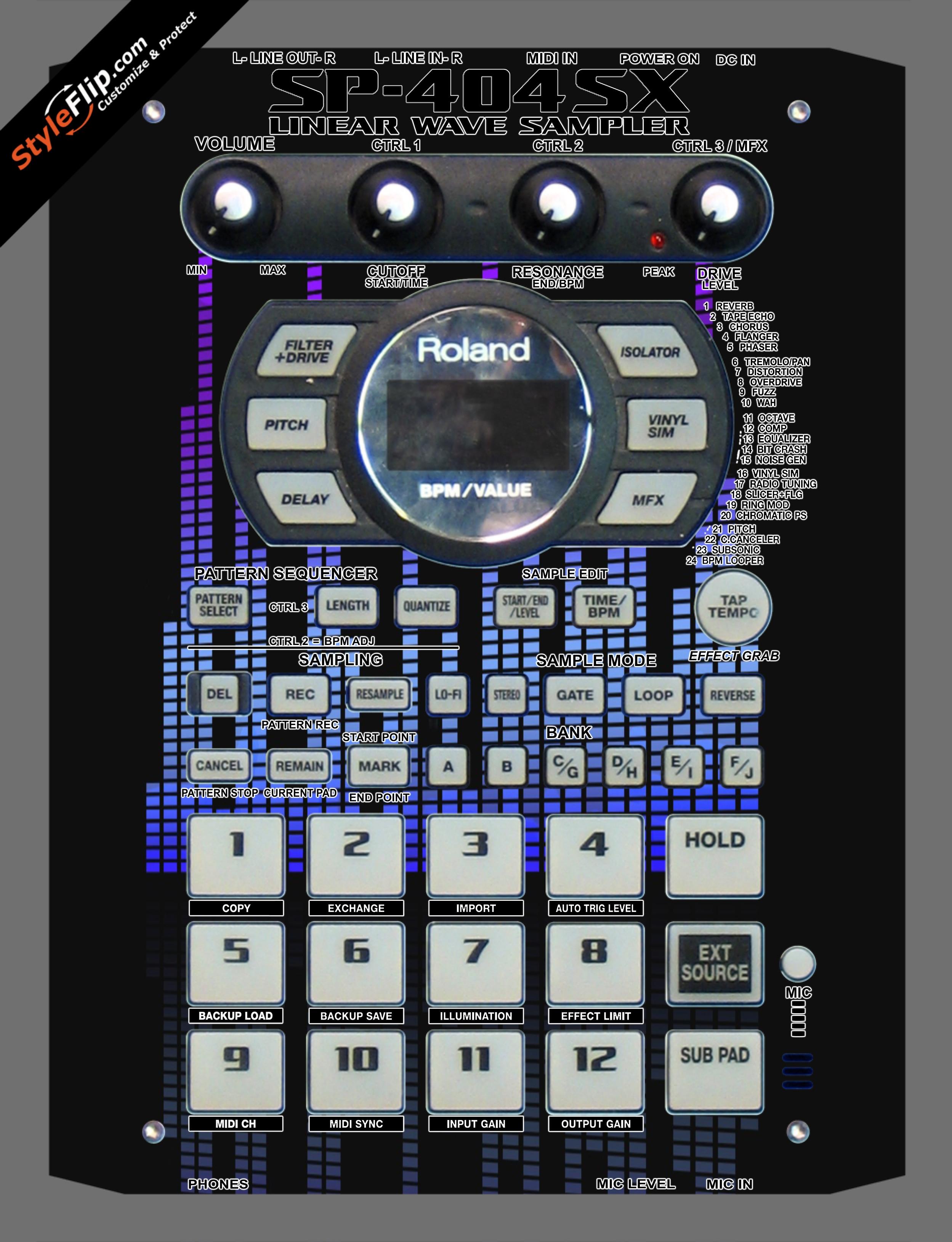 Blue Tones Roland SP-404 SX