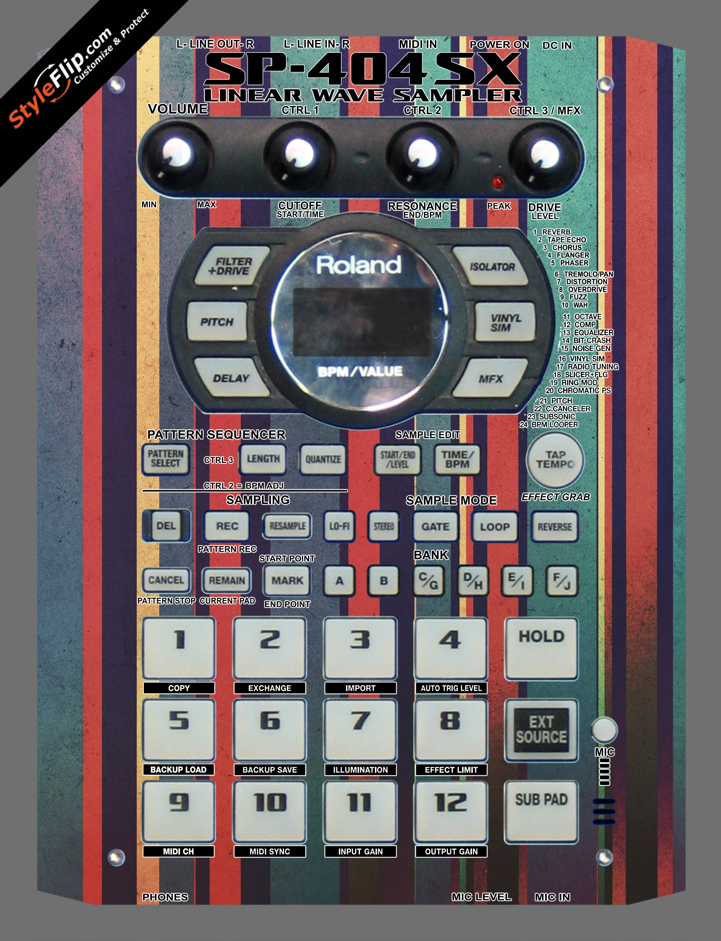 Carnival  Roland SP-404 SX