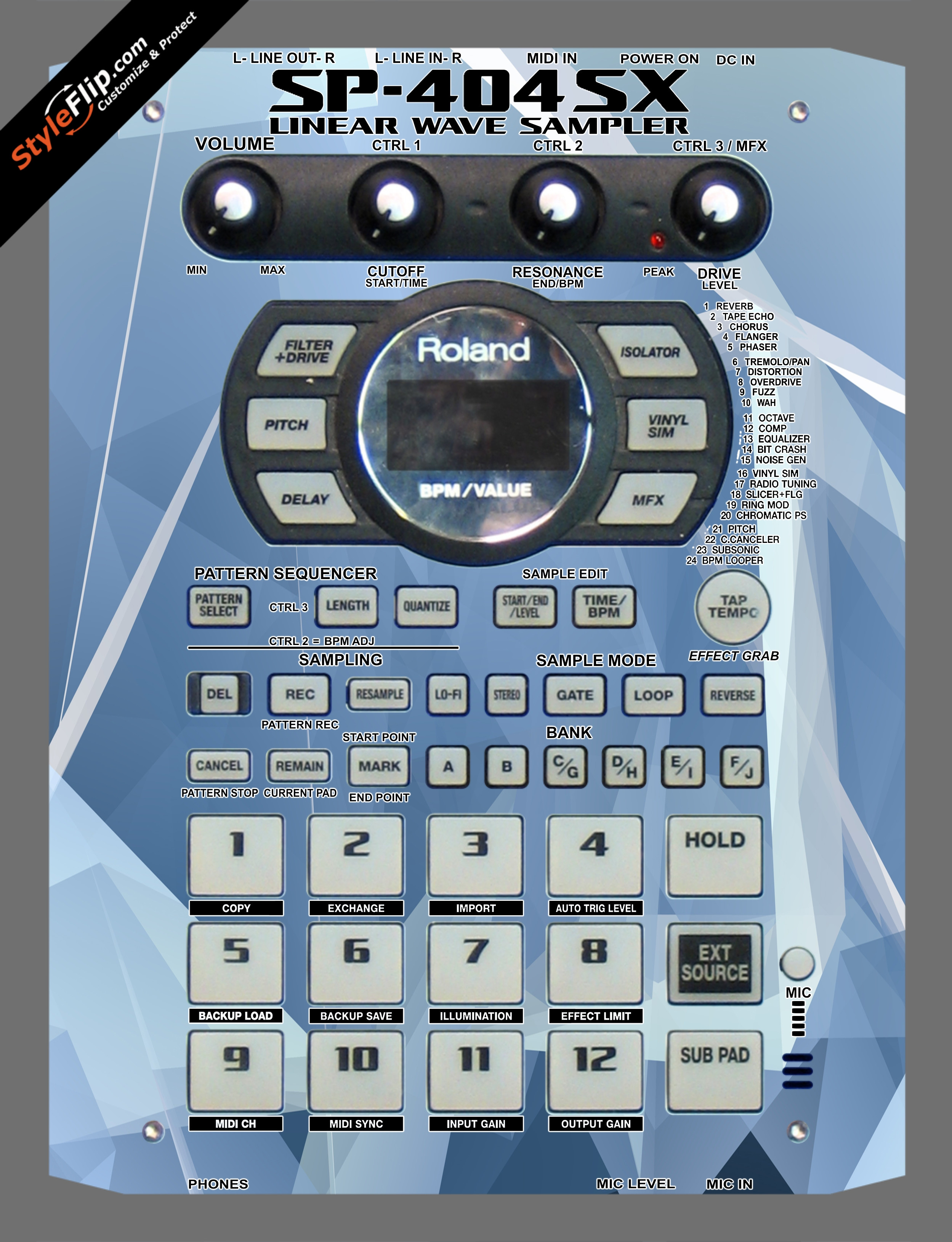 Crystal Roland SP-404 SX
