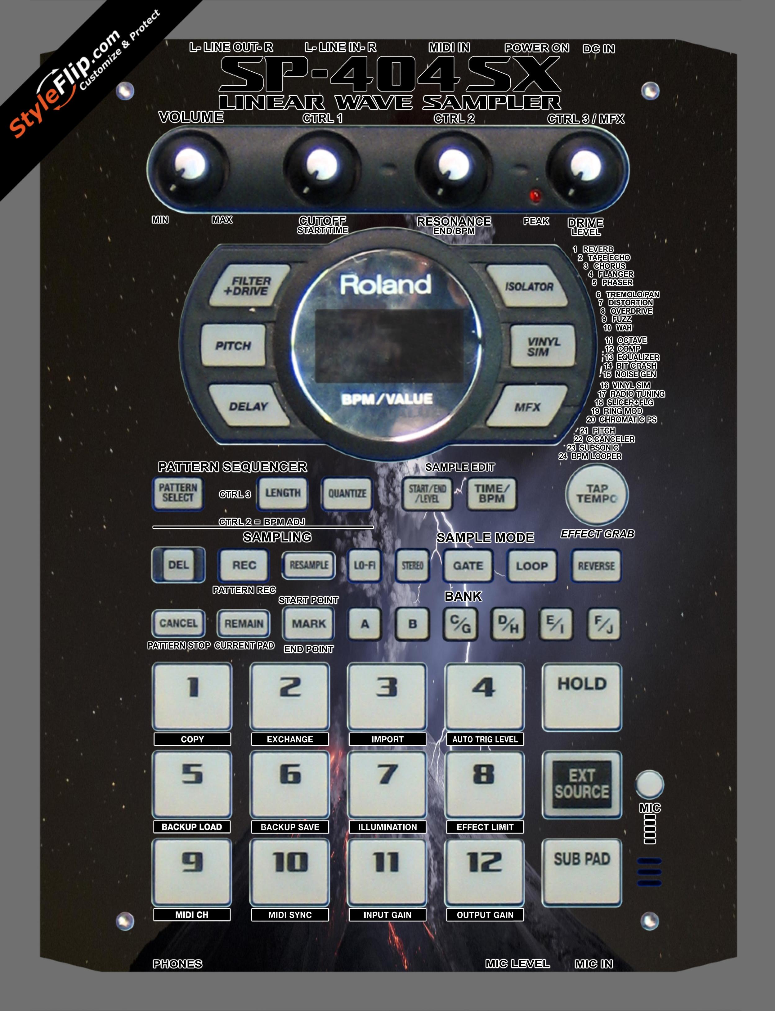 Dark As Night  Roland SP-404 SX