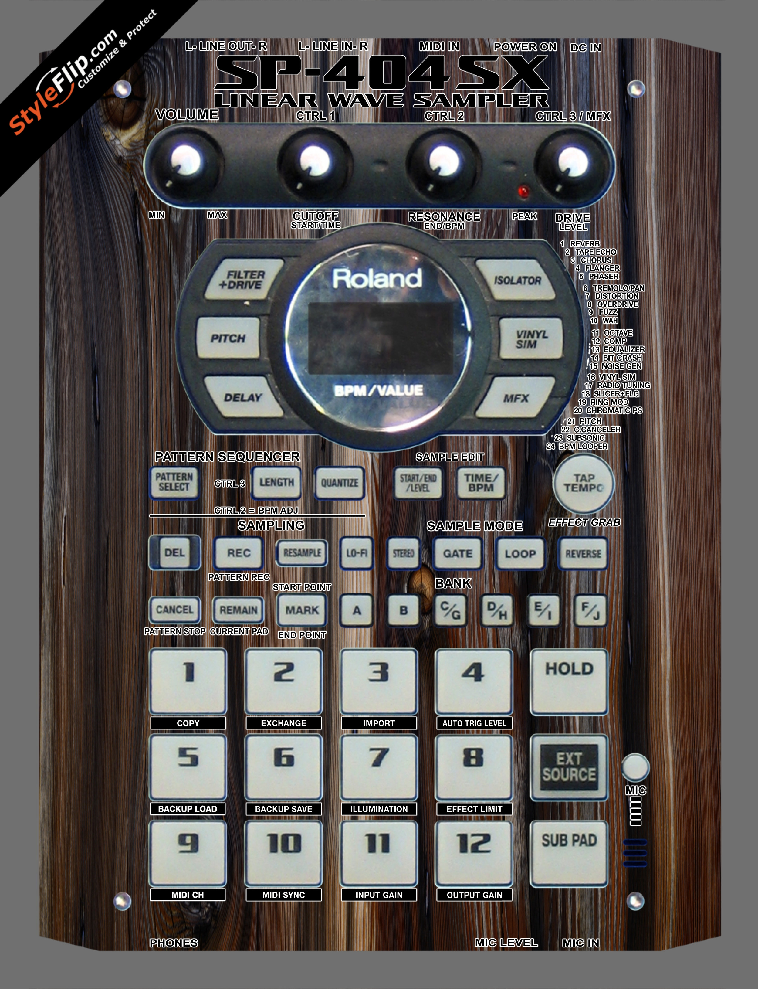 Dark Wood  Roland SP-404 SX