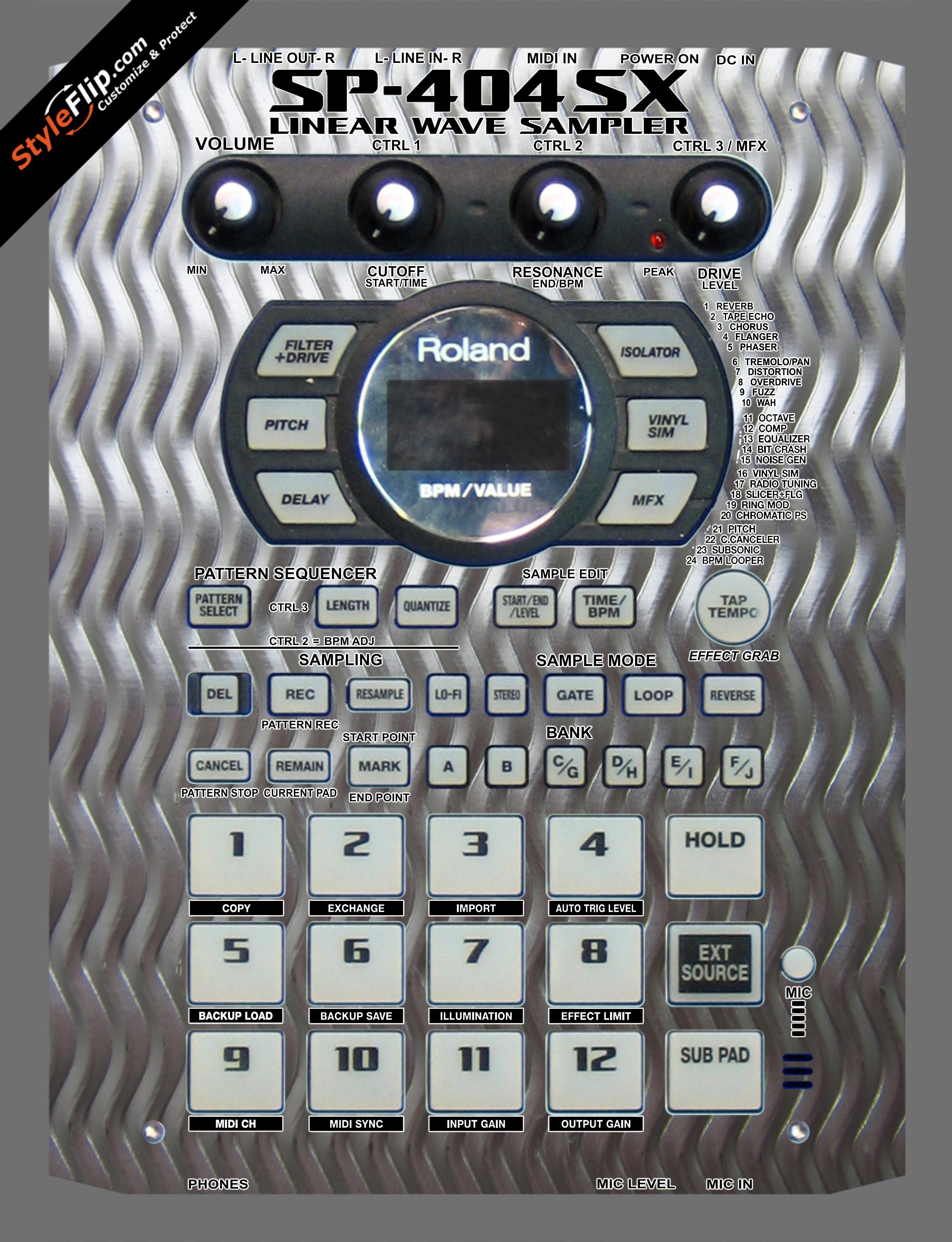 Embossed Roland SP-404 SX