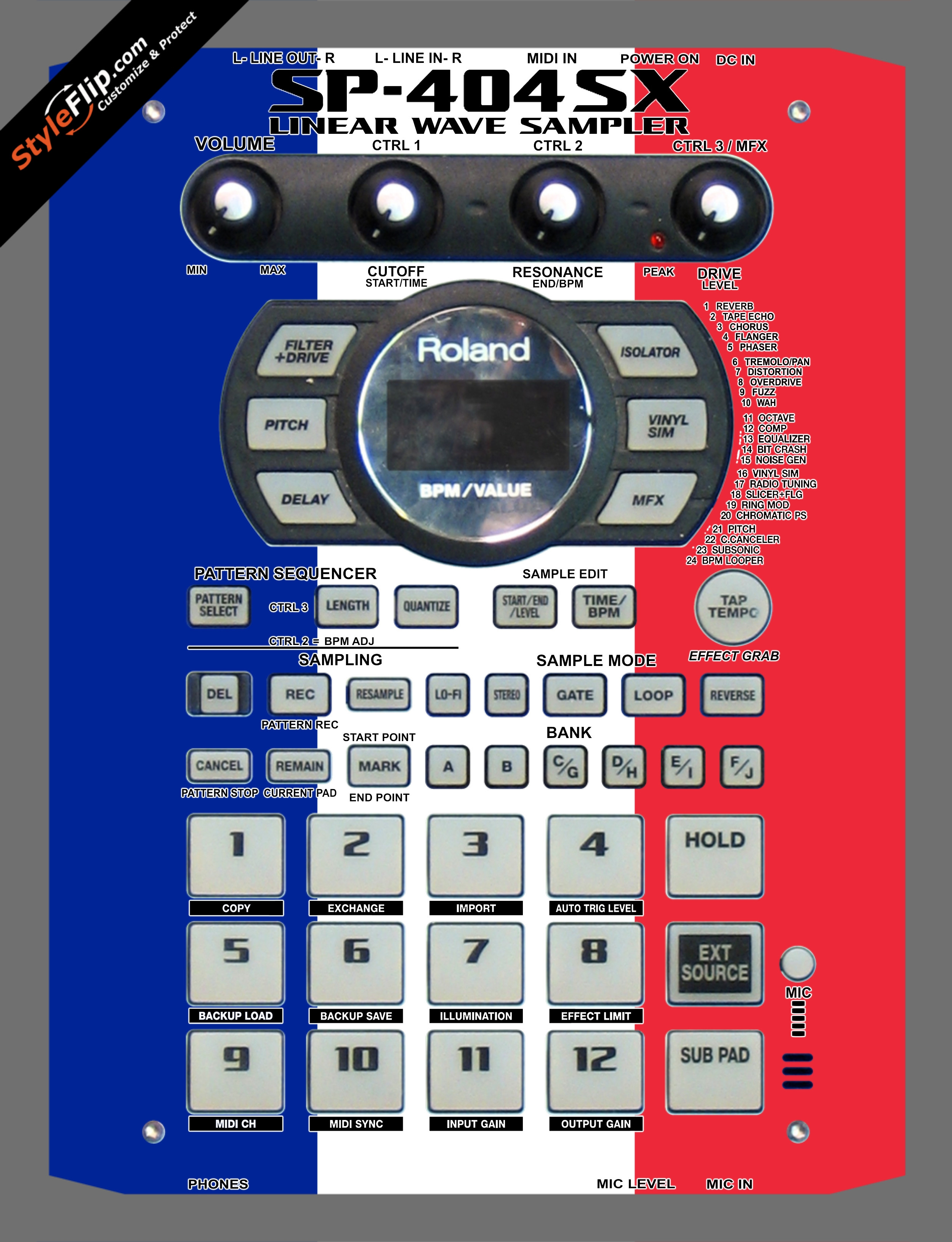 French Flag  Roland SP-404 SX