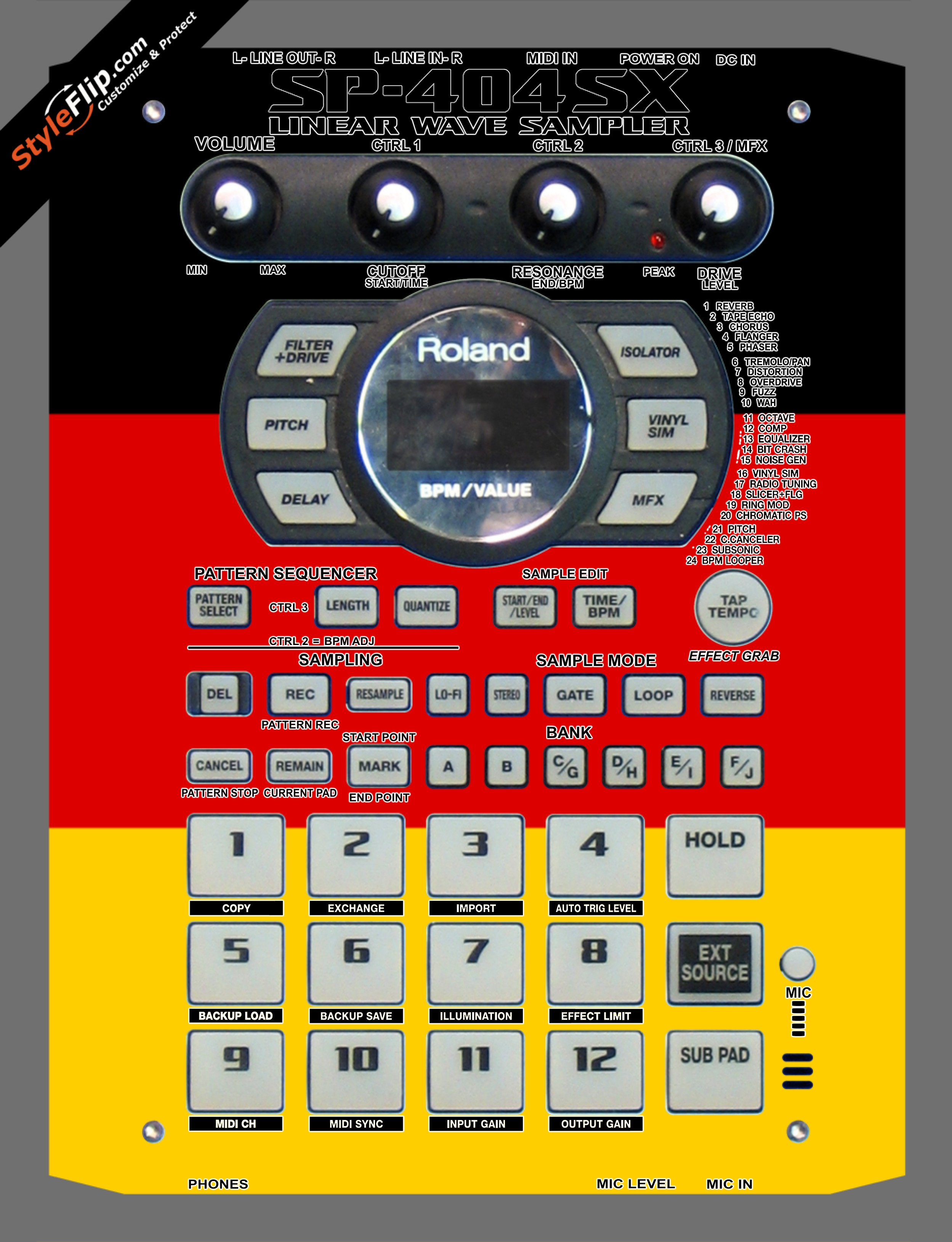 German Flag  Roland SP-404 SX