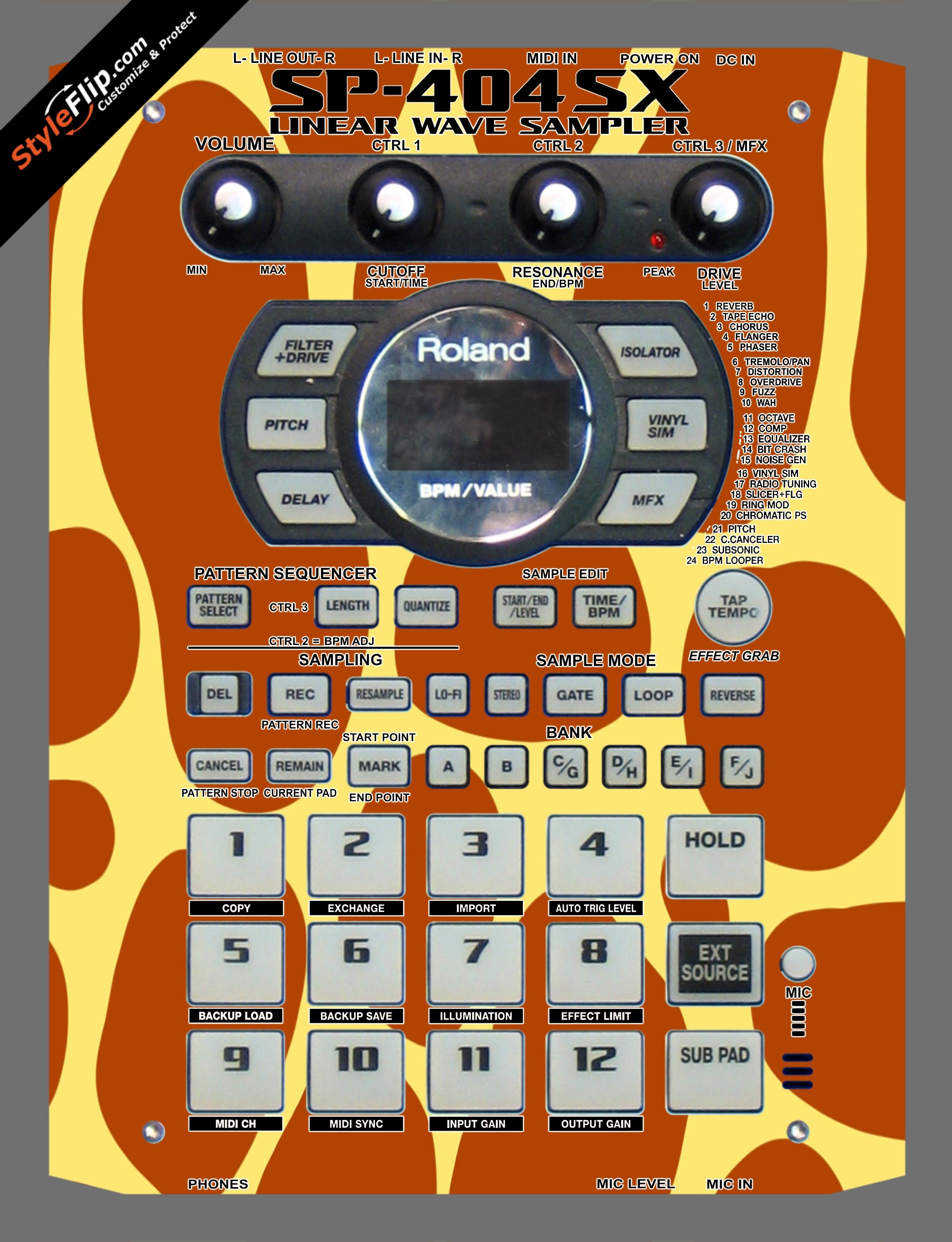 Giraffe Print  Roland SP-404 SX