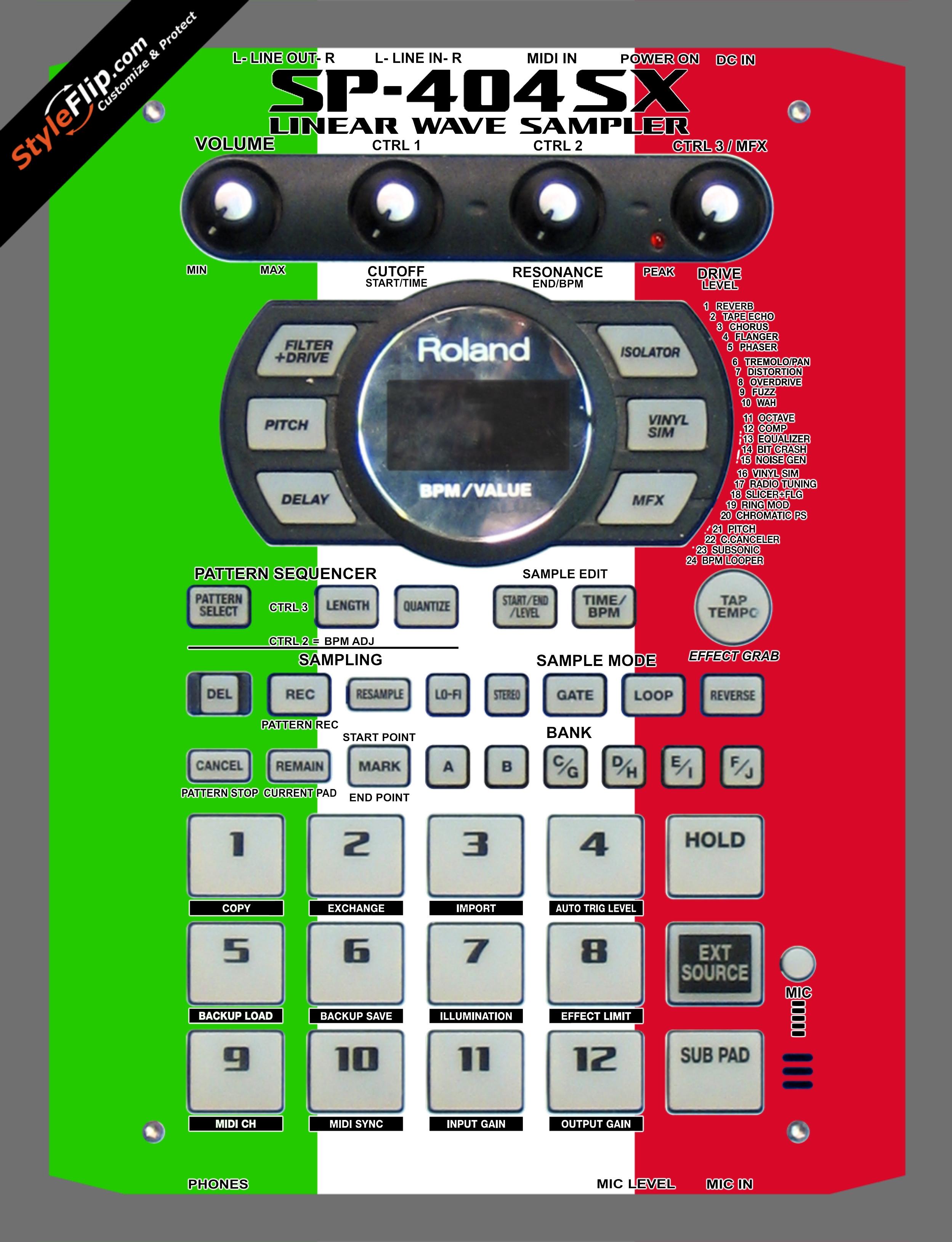 Italian Flag  Roland SP-404 SX
