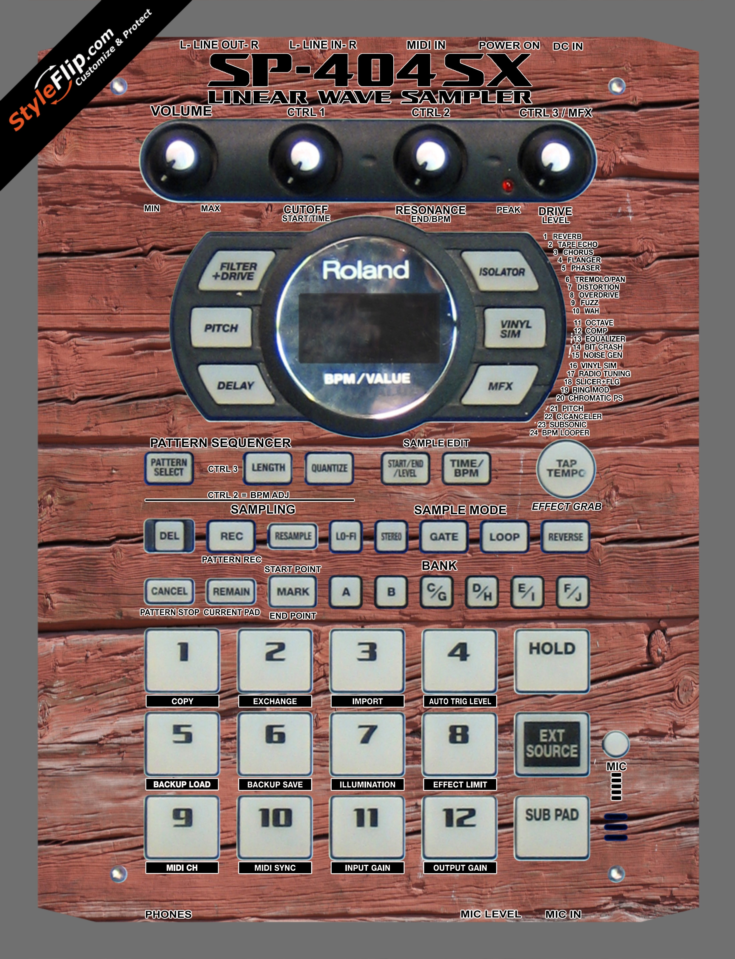 Old Wood  Roland SP-404 SX