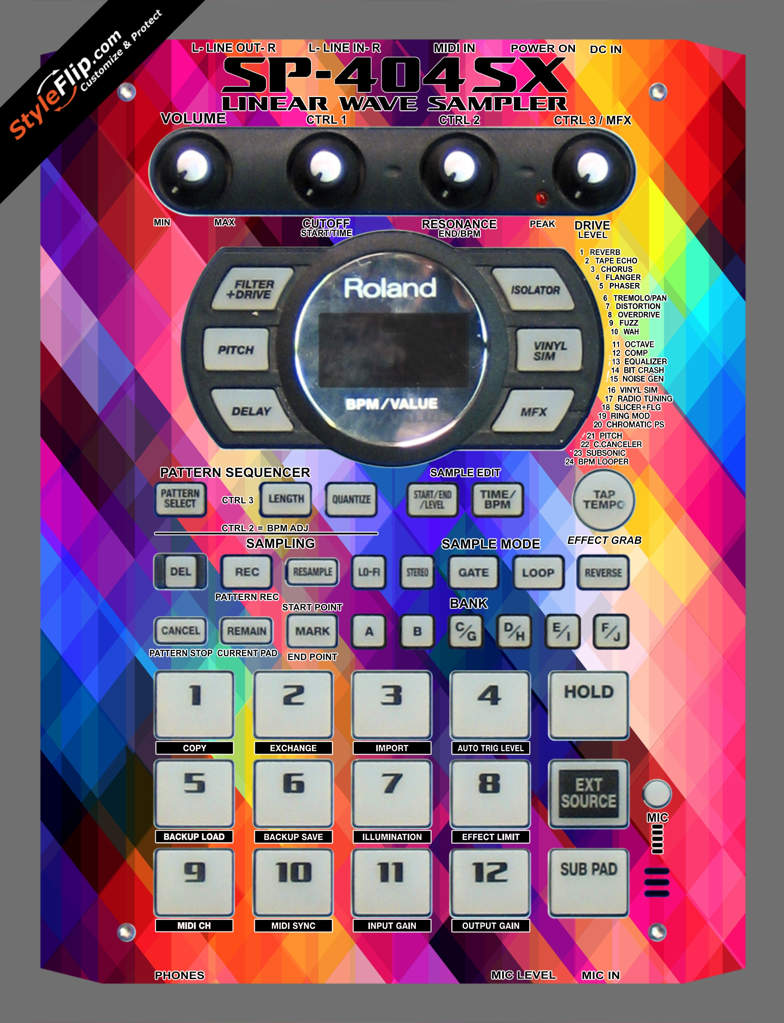 Pixalated Roland SP-404 SX