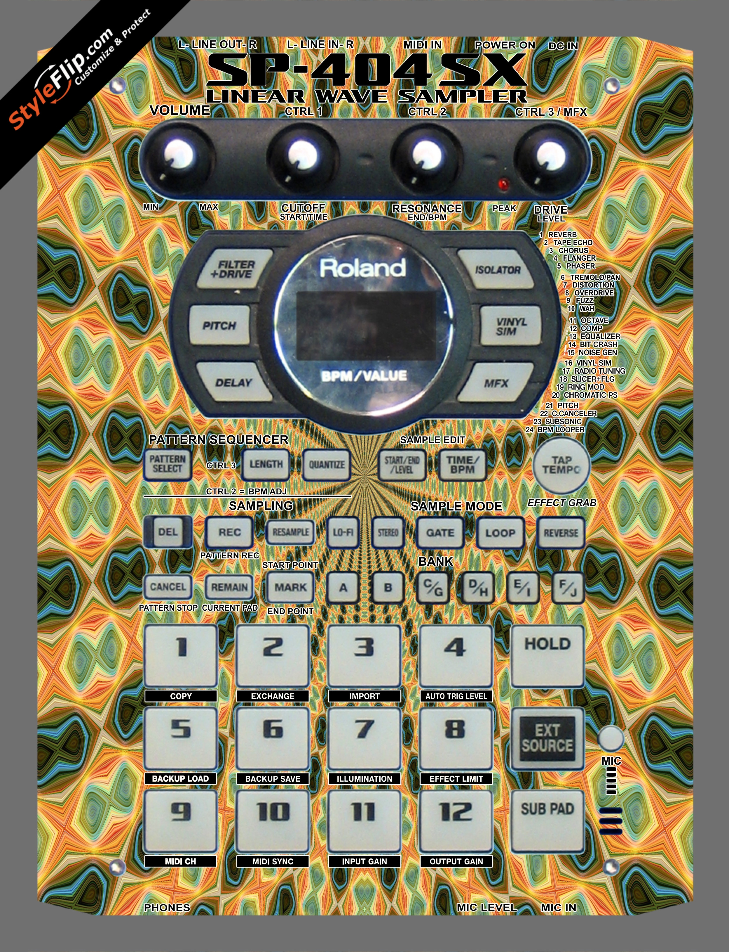 Psychedelia  Roland SP-404 SX