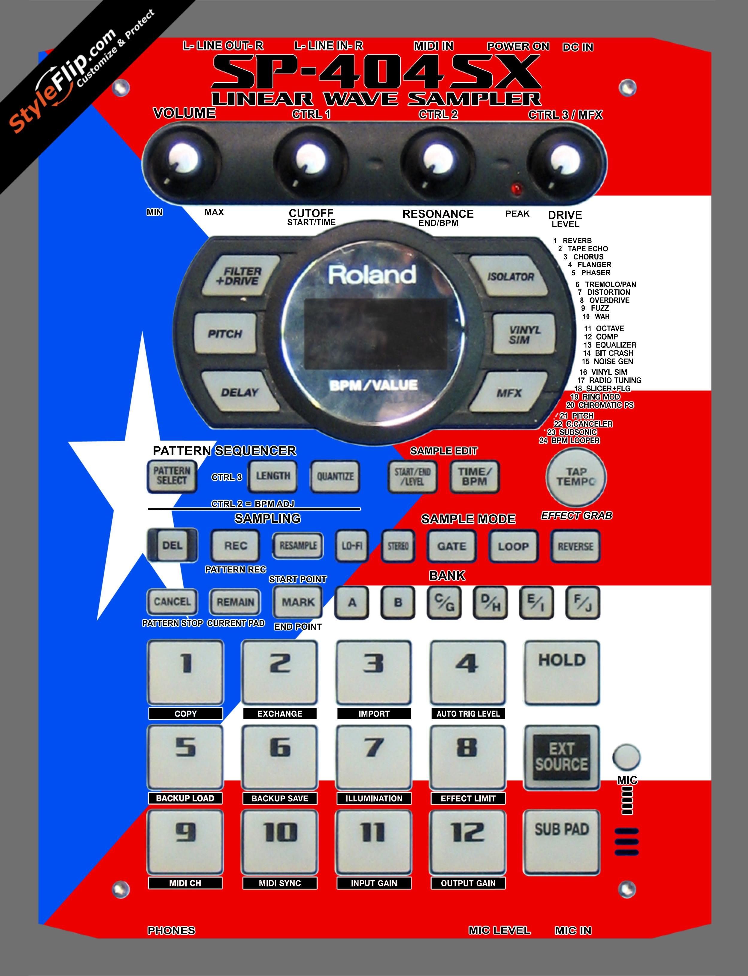 Puerto Rican flag  Roland SP-404 SX