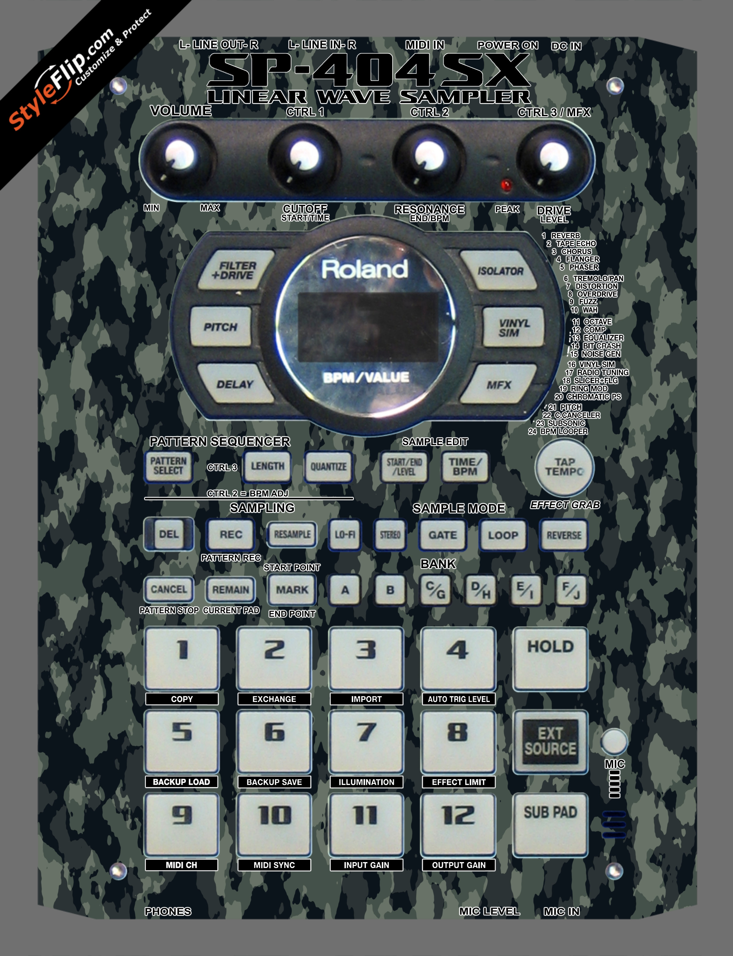 Rambo  Roland SP-404 SX