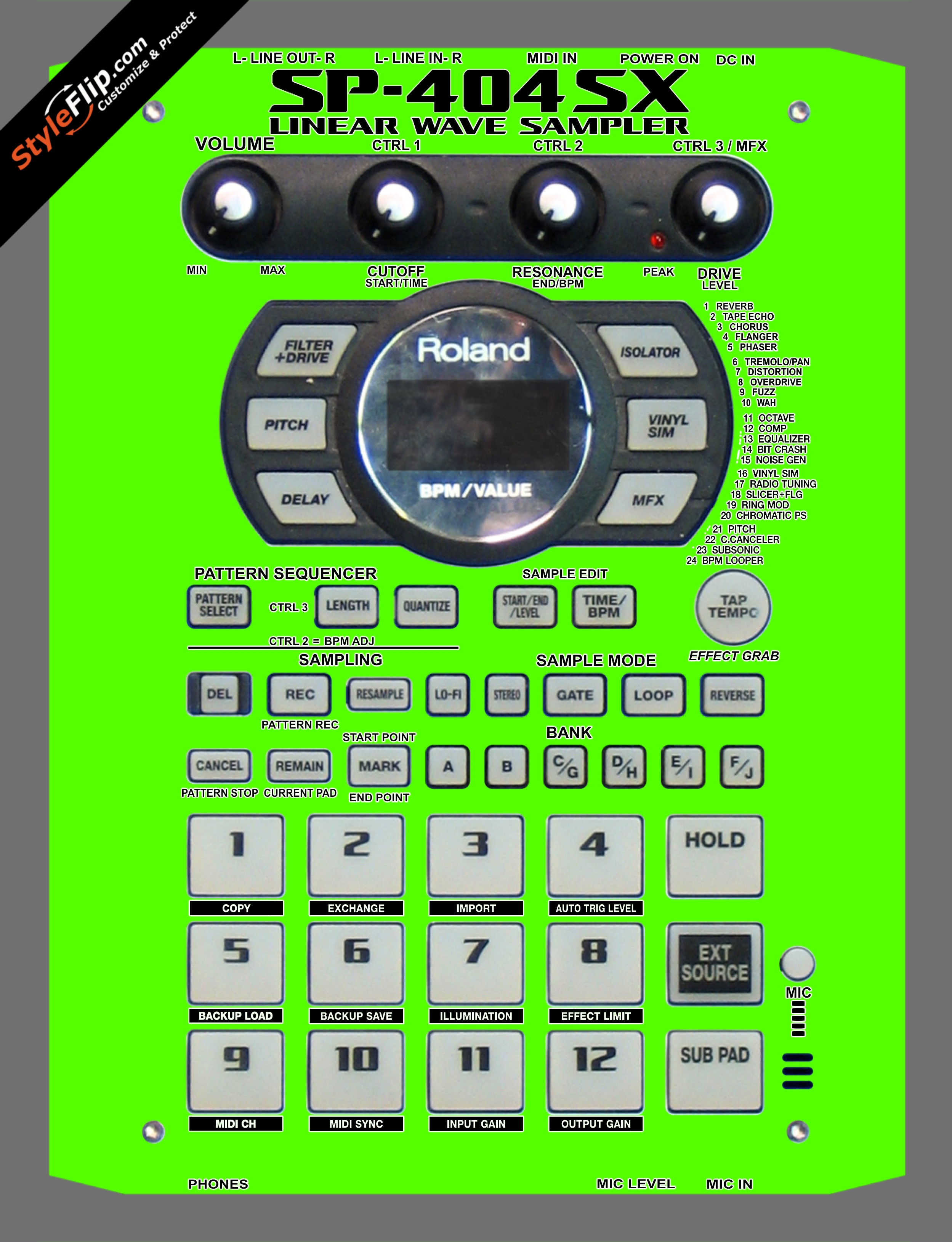 Solid Green Roland SP-404 SX