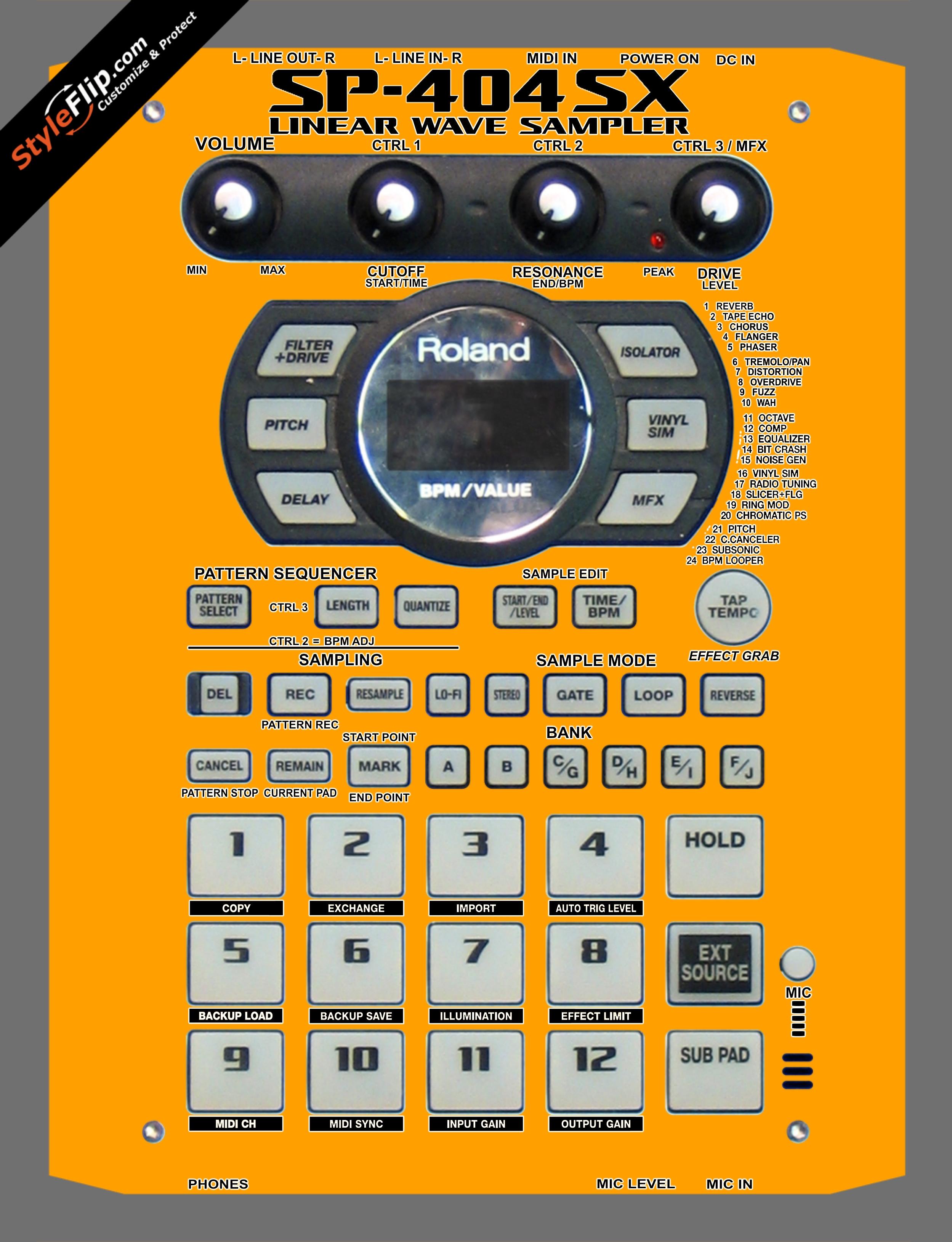 Solid Orange Roland SP-404 SX