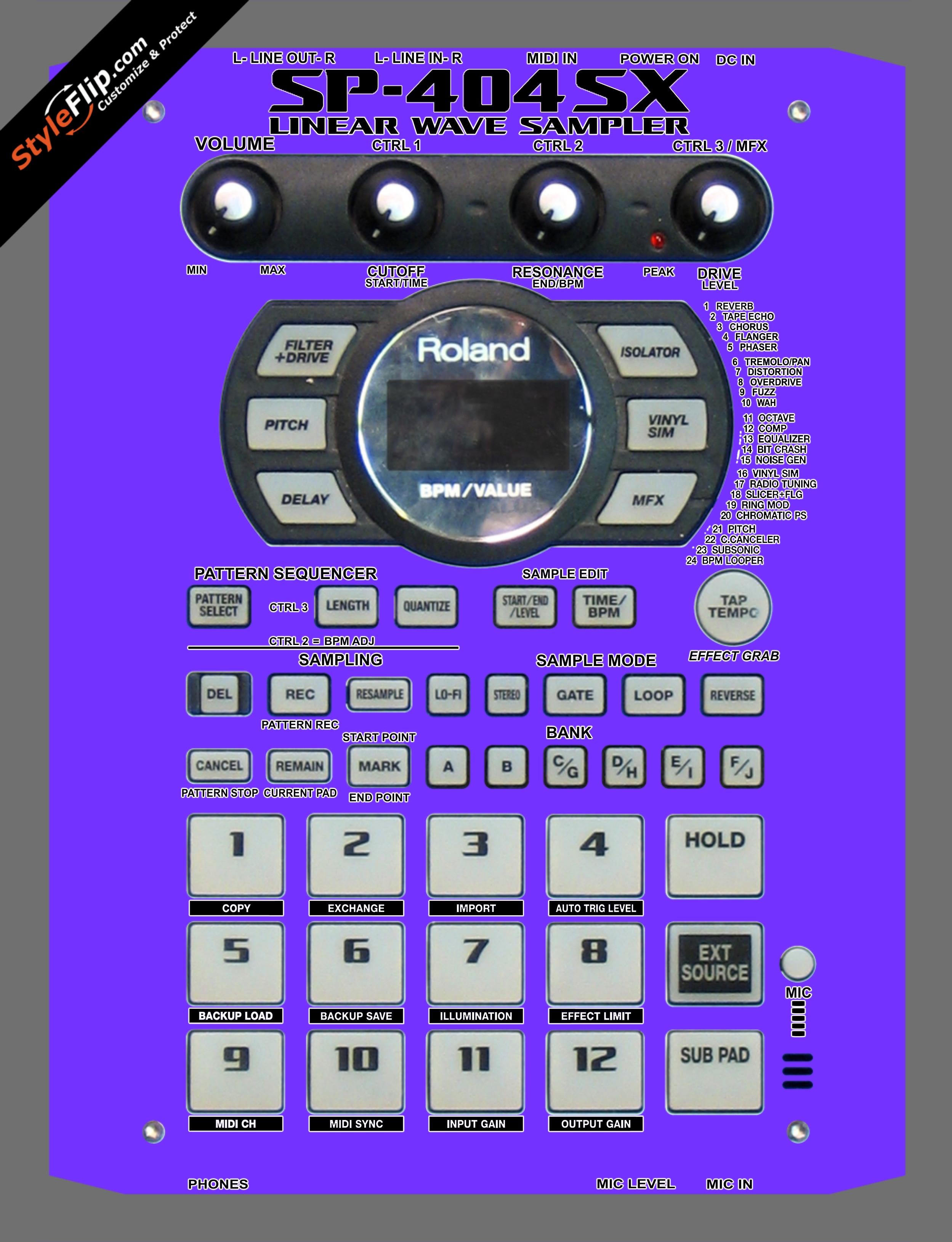 Solid Purple Roland SP-404 SX