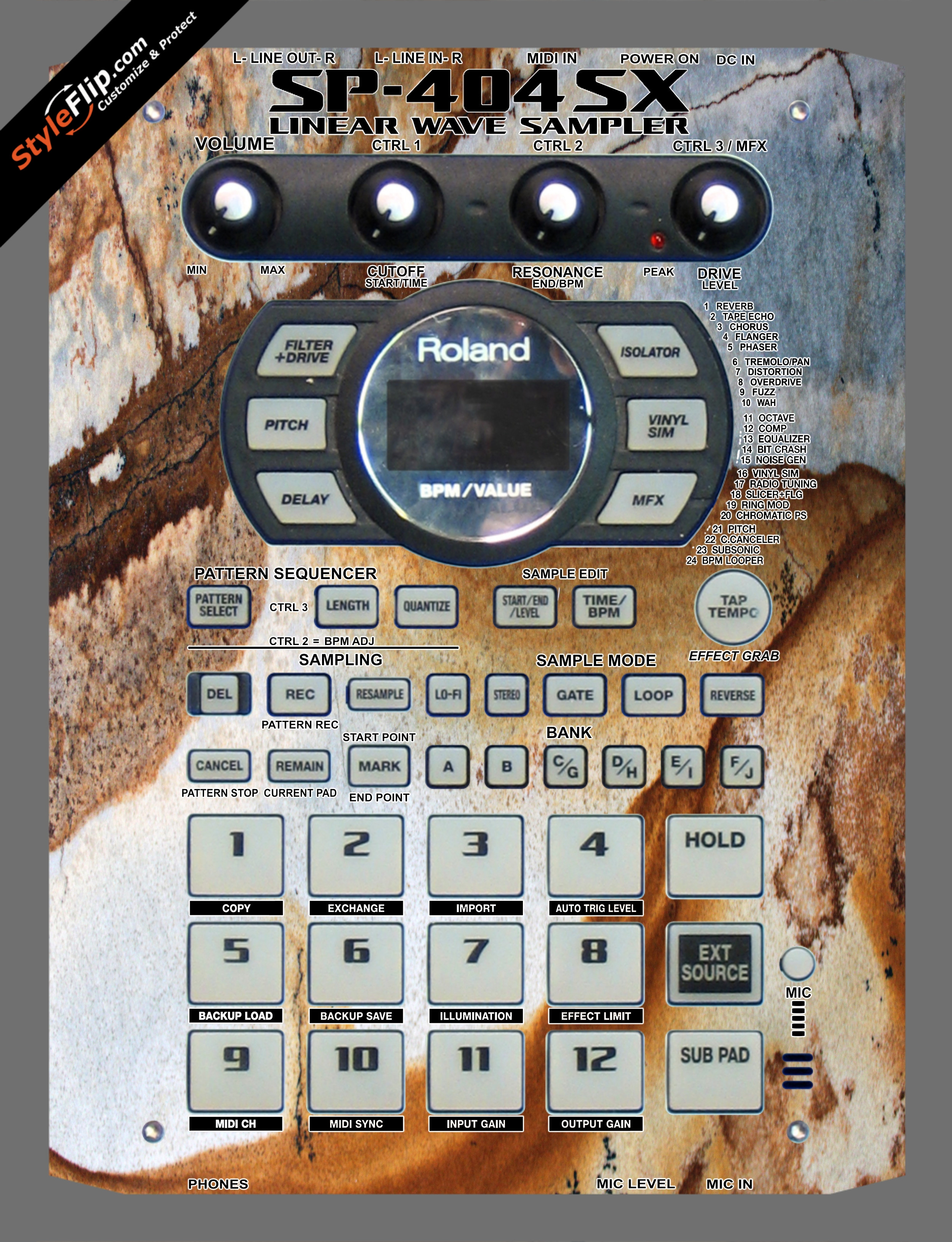 Stained Marble  Roland SP-404 SX