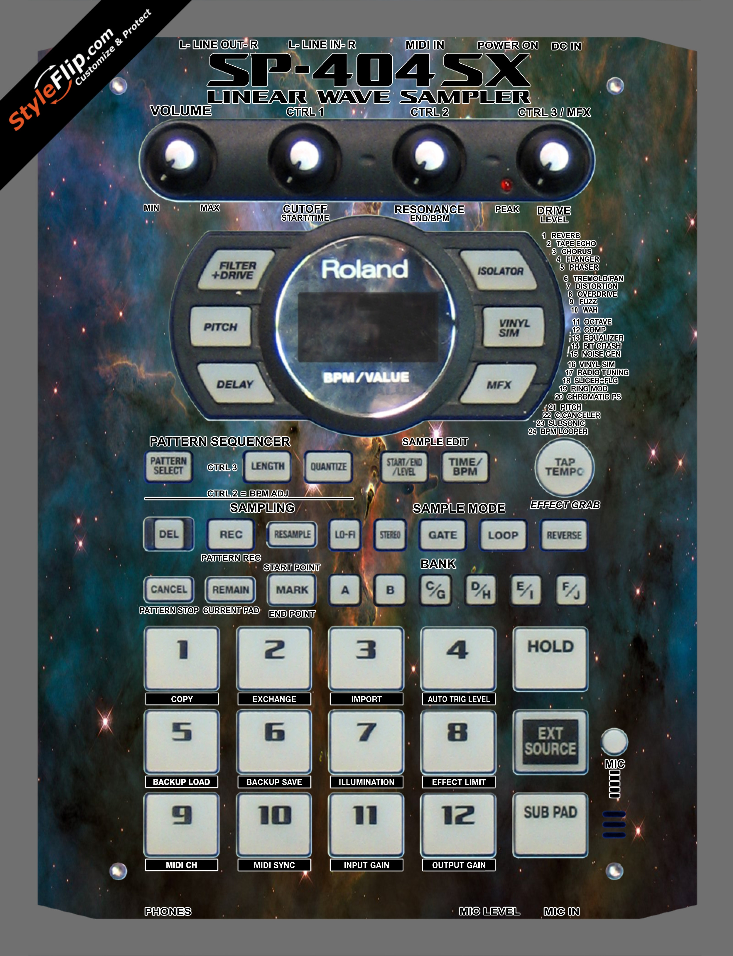 Star Dust  Roland SP-404 SX