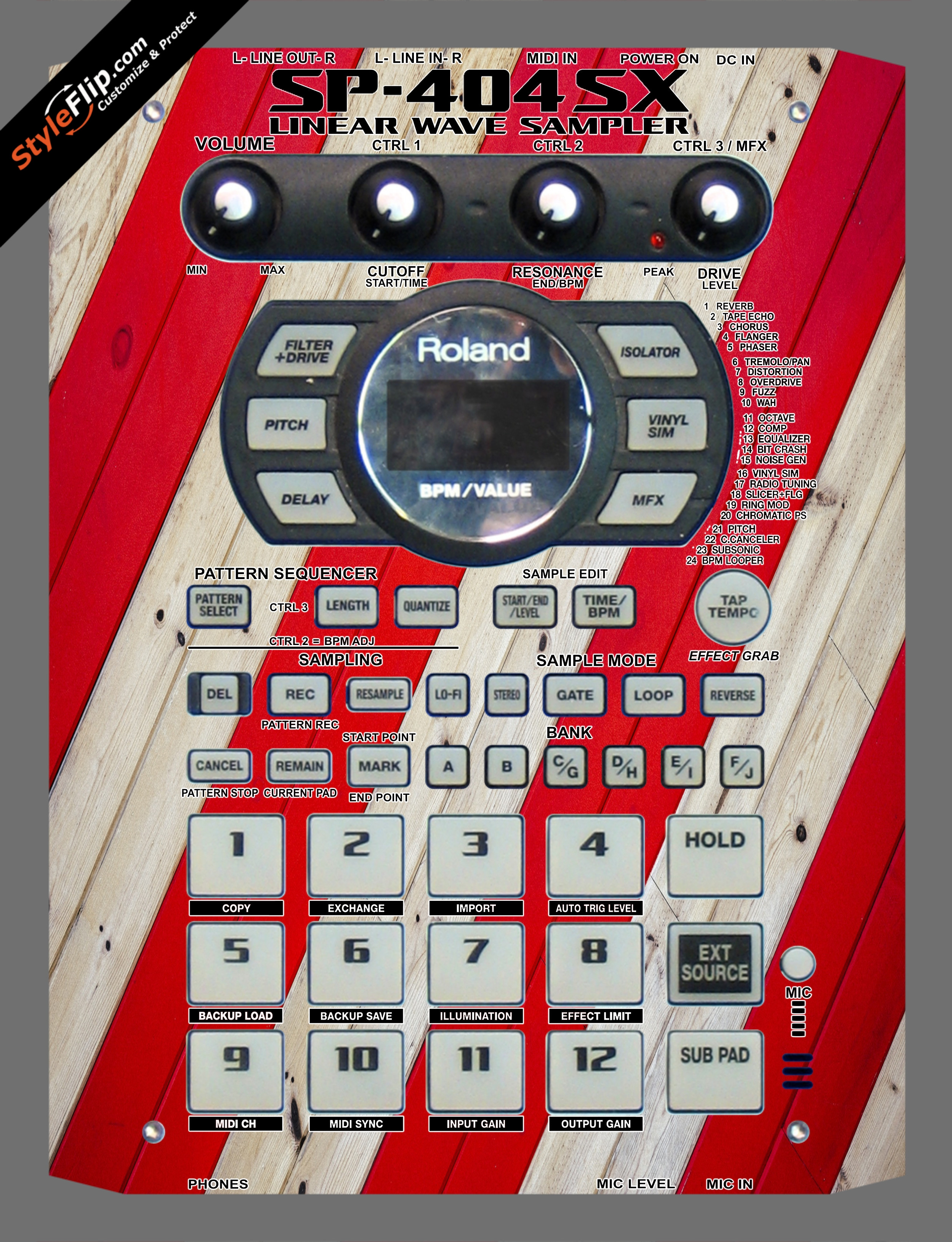 Striped Wood  Roland SP-404 SX