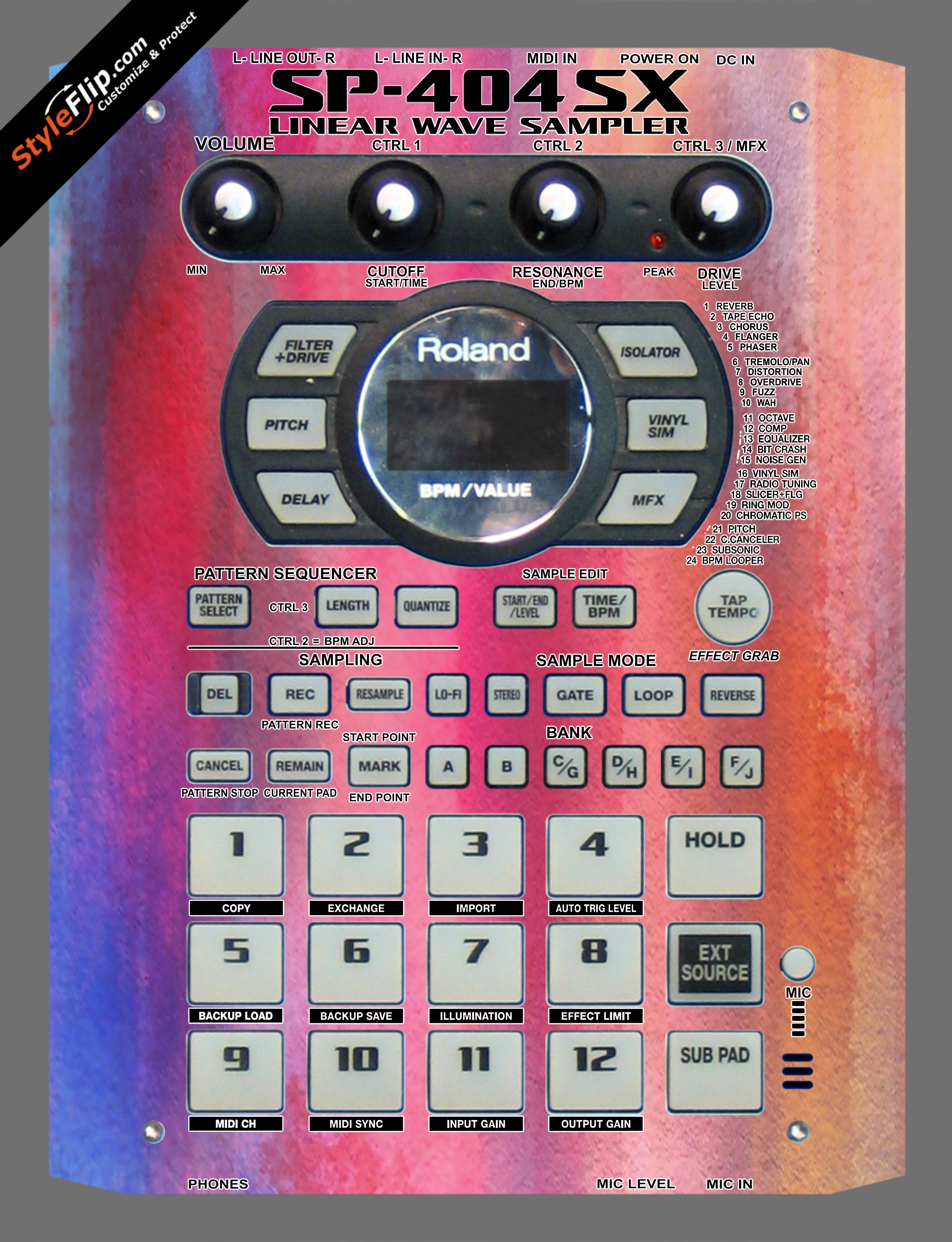 Sunset Roland SP-404 SX