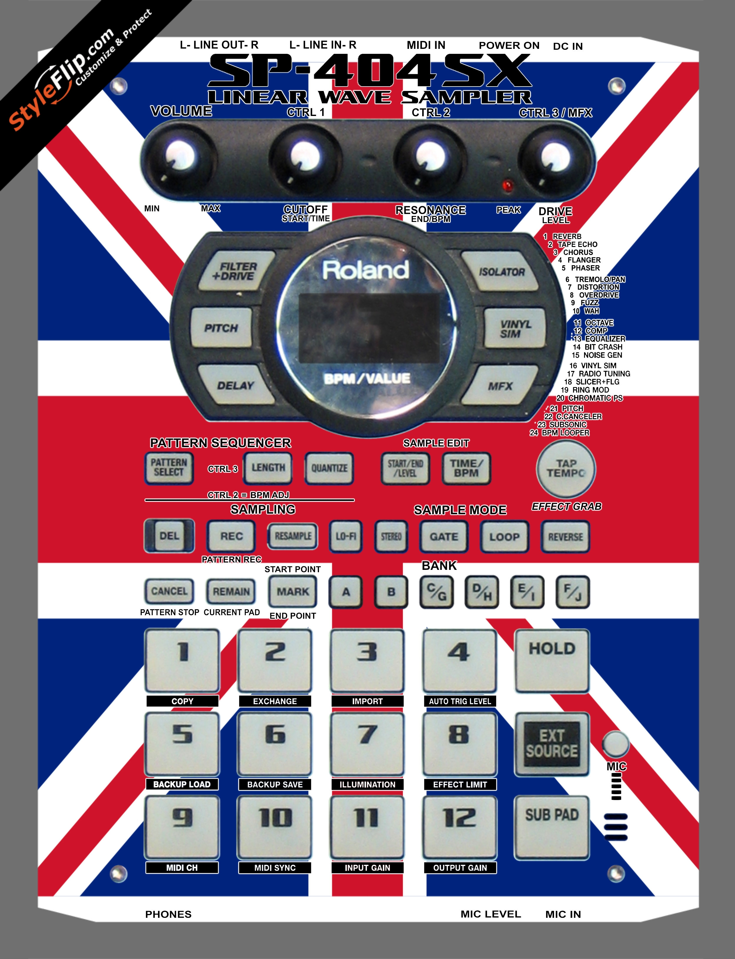 United Kingdom Flag Roland SP-404 SX