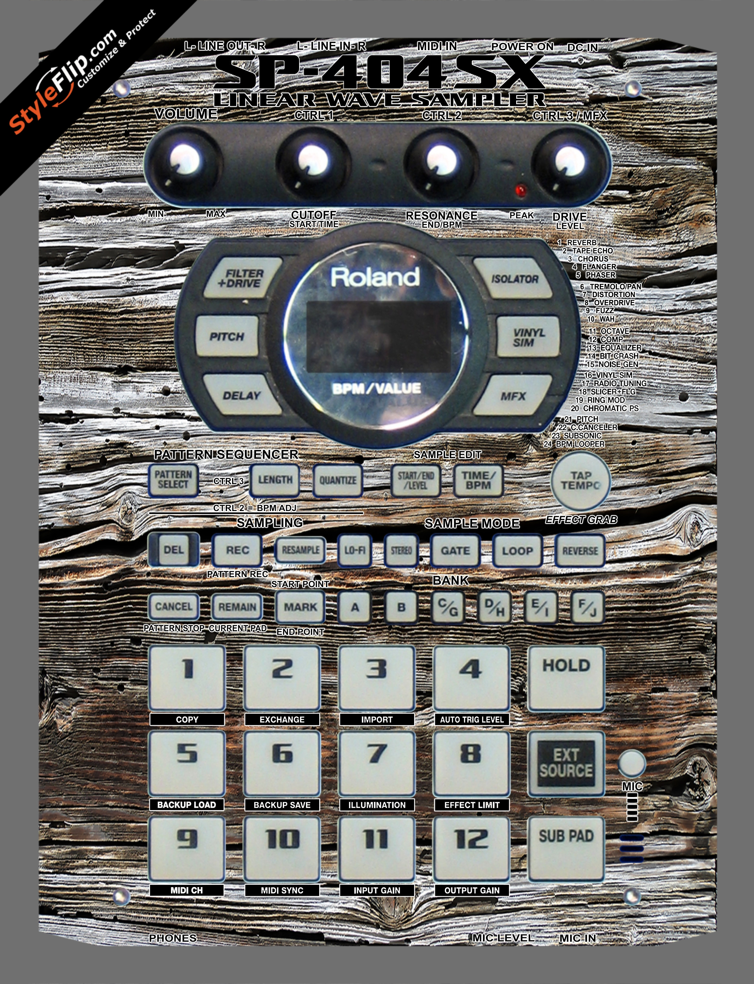 Weathered Wood  Roland SP-404 SX