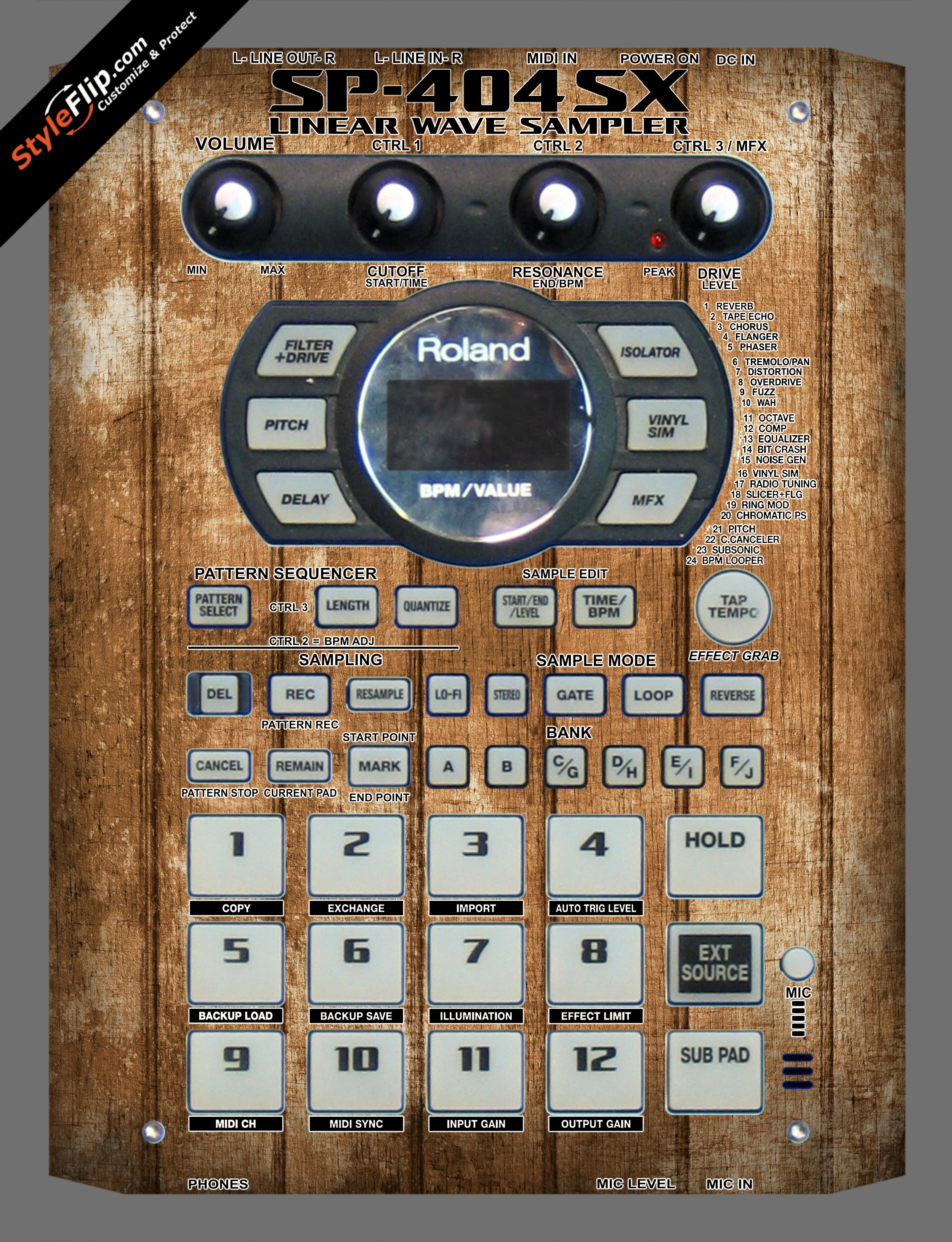 Wood Panels  Roland SP-404 SX