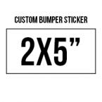 General 2x5 Custom Bumper Stickers  Skins Custom Sticker Covers & Decals