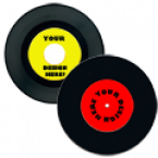 "General 7"" Record Labels - (Includes 2 pairs, 4 total) Skins Custom Sticker Covers & Decals"