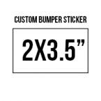 General 2x3.5 Custom Bumper Stickers  Skins Custom Sticker Covers & Decals