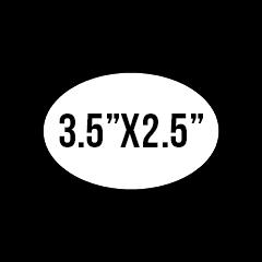 """Custom Stickers 3.5""""X2.5"""" Oval Stickers"""