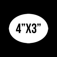 """Custom Stickers 4""""X3""""  Oval Stickers"""