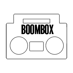 "Custom Stickers 3""x4"" Boombox"