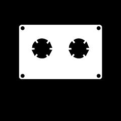 "Custom Stickers 3""x4"" Cassette Tape"