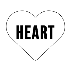 "Custom Stickers 4""4"" Heart"
