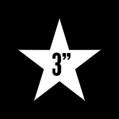 "Custom Stickers 3""x3"" Star"