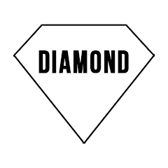 "Custom Stickers 4""4"" Diamond"