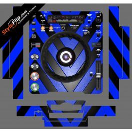 Black & Blue Chevron Pioneer CDJ-1000MK3